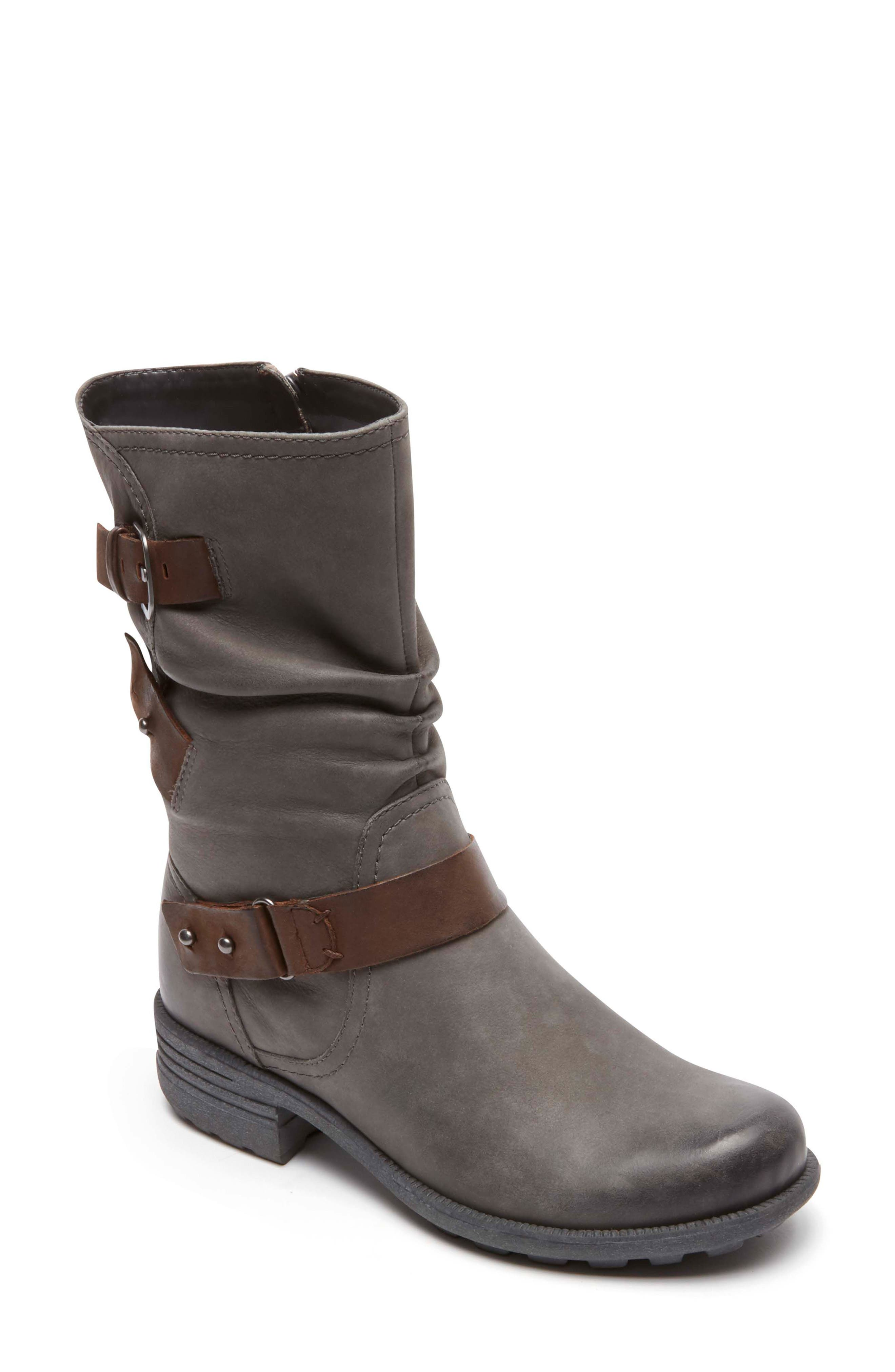 Brunswick Boot,                         Main,                         color, Dark Grey Leather