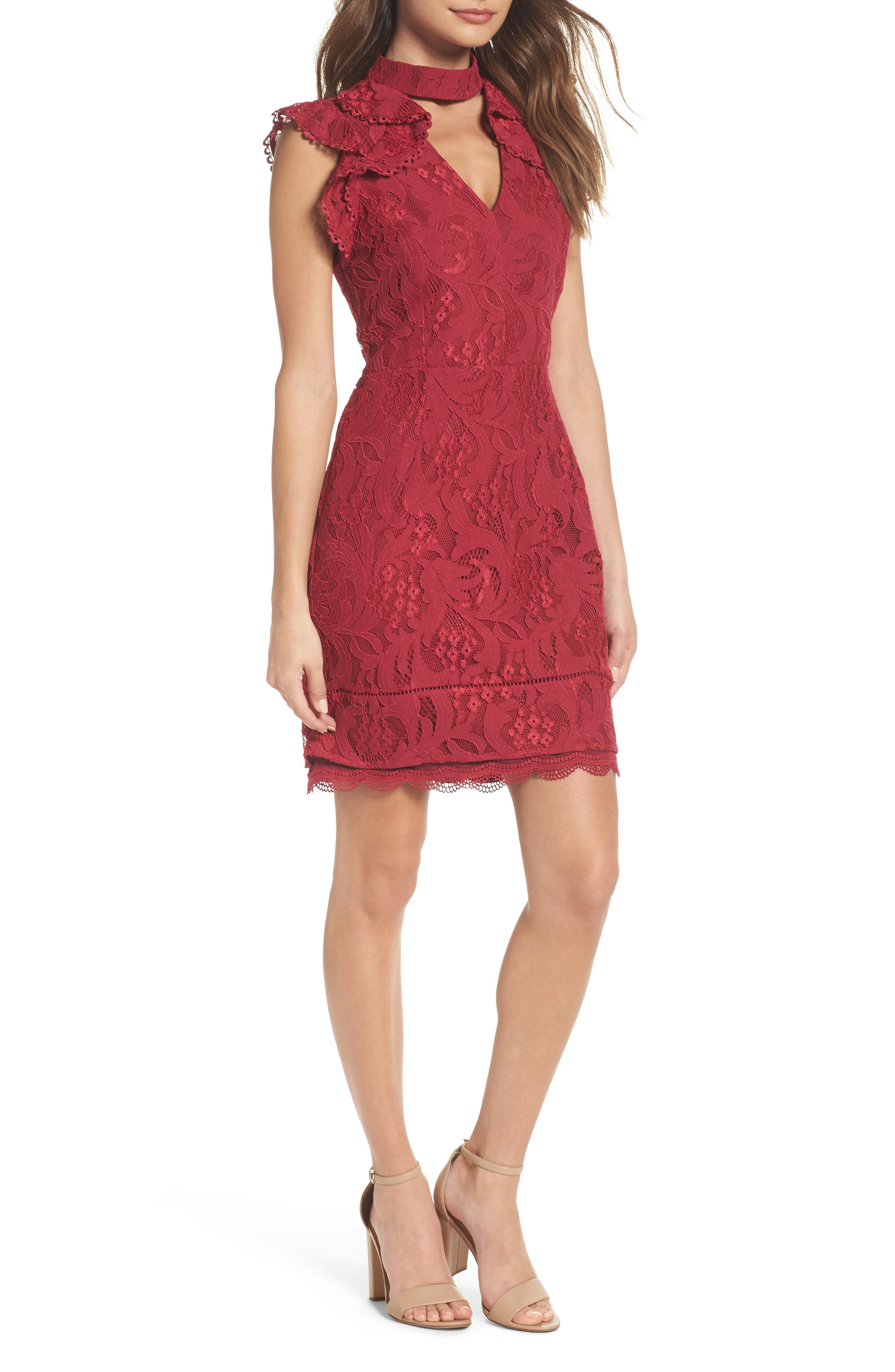 Adelyn Rae Delilah Lace Sheath Dress