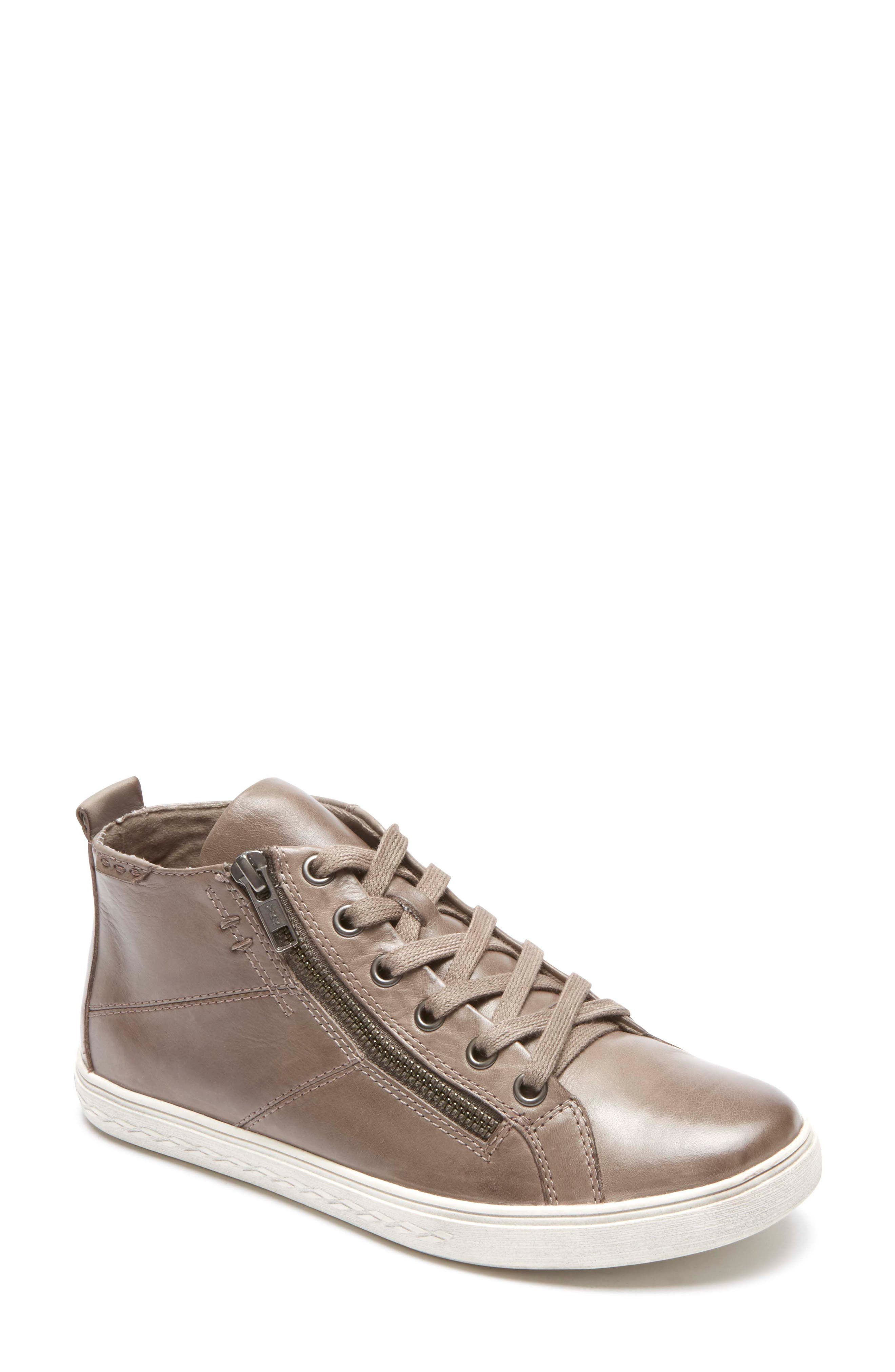 Willa High Top Sneaker,                         Main,                         color, Grey Leather