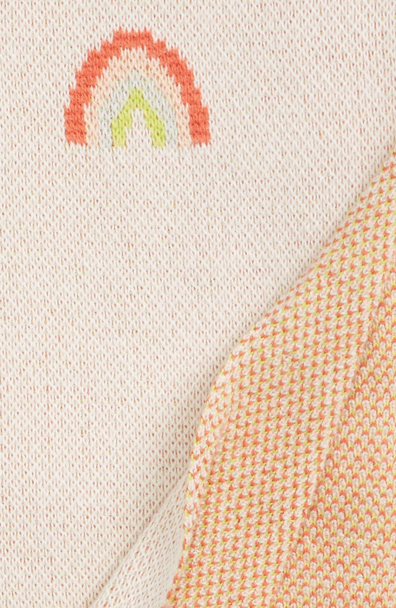 Alternate Image 2  - Meri Meri Rainbow Organic Cotton Intarsia Knit Blanket