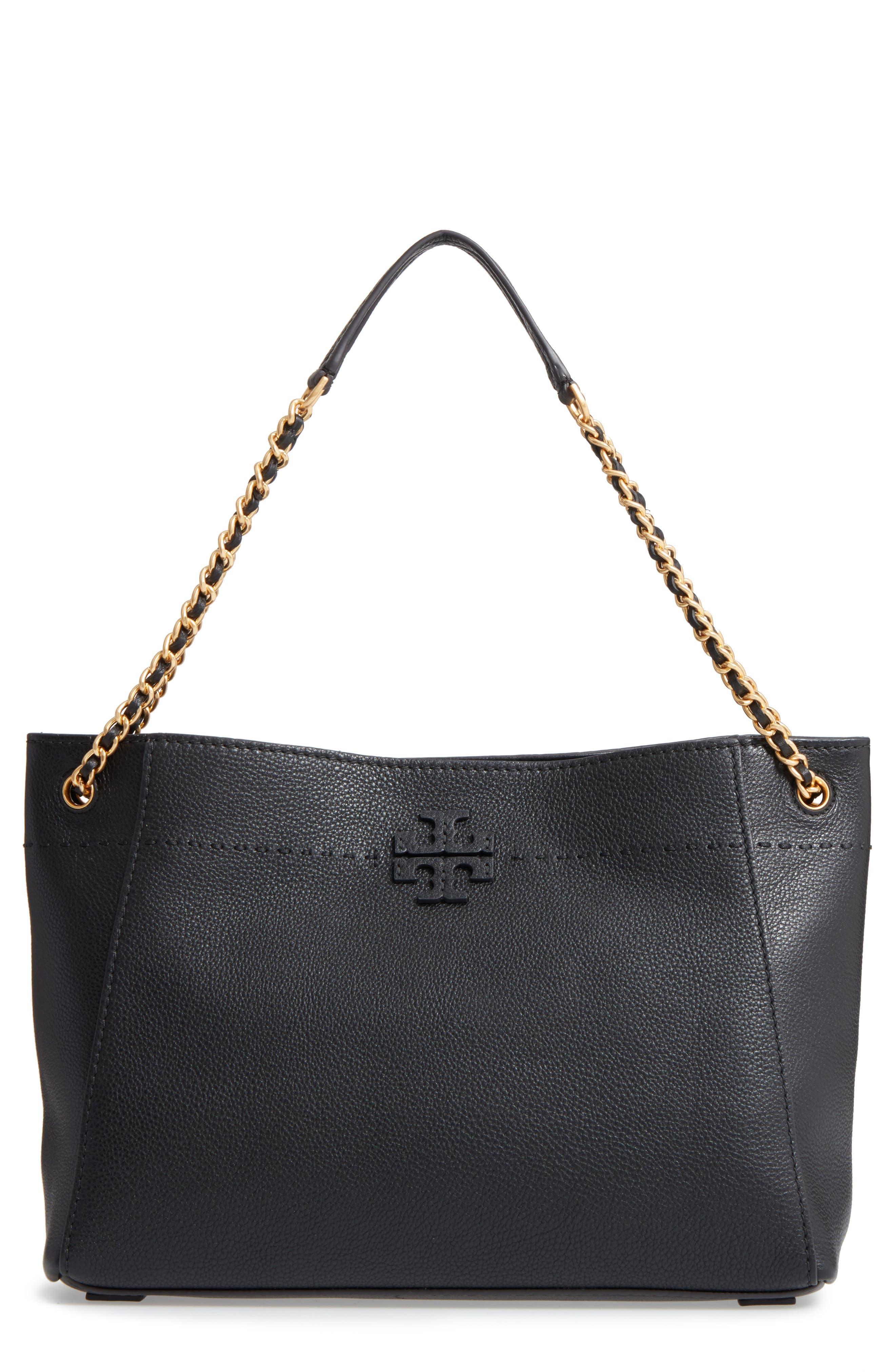 McGraw Slouchy Leather Shoulder Bag,                             Main thumbnail 1, color,                             Black