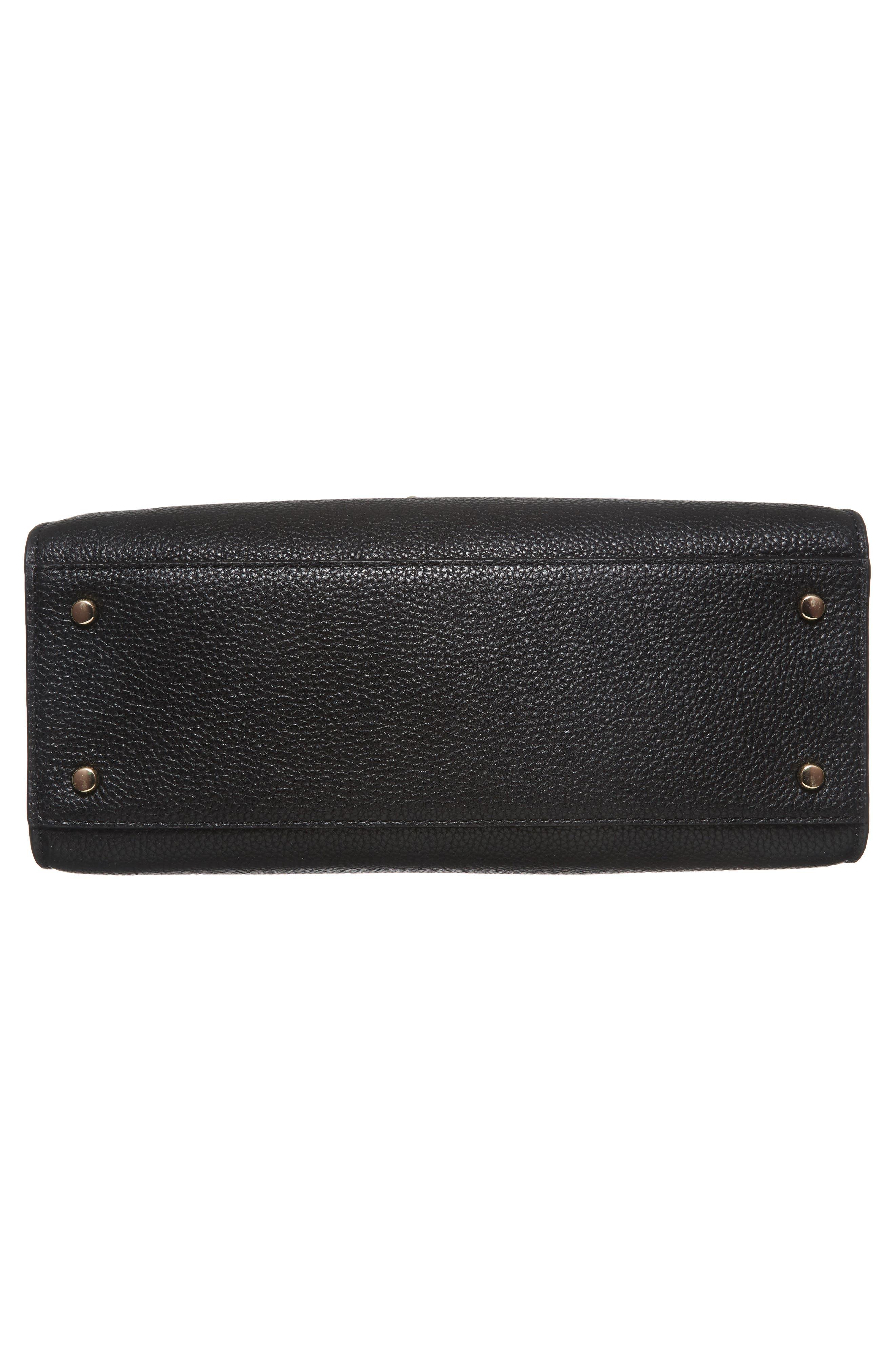 stewart street - samira textile & leather top handle satchel,                             Alternate thumbnail 5, color,                             Multi