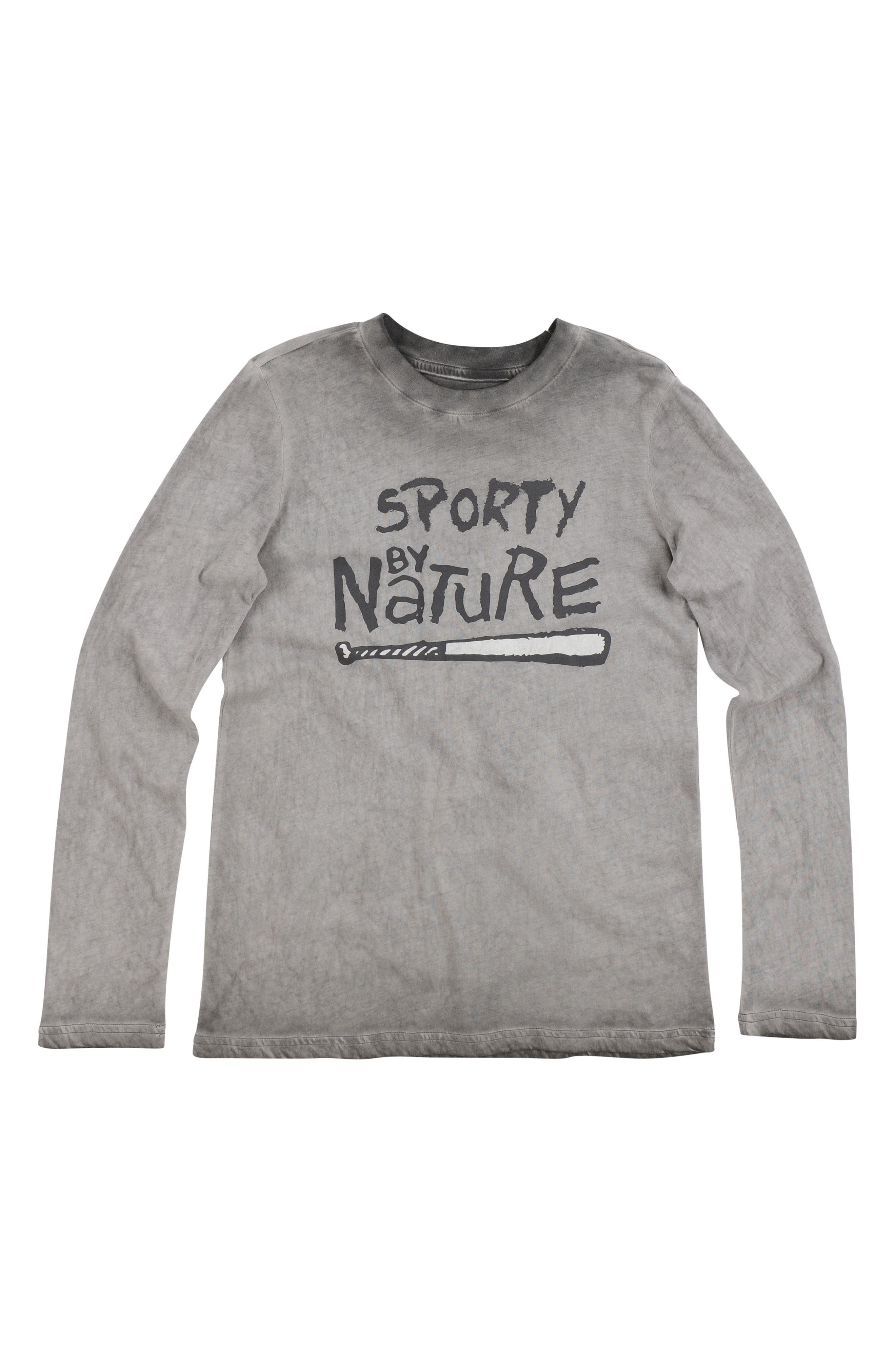 Alternate Image 1 Selected - Butter Super Soft Sporty Graphic Long Sleeve T-Shirt (Big Boys)