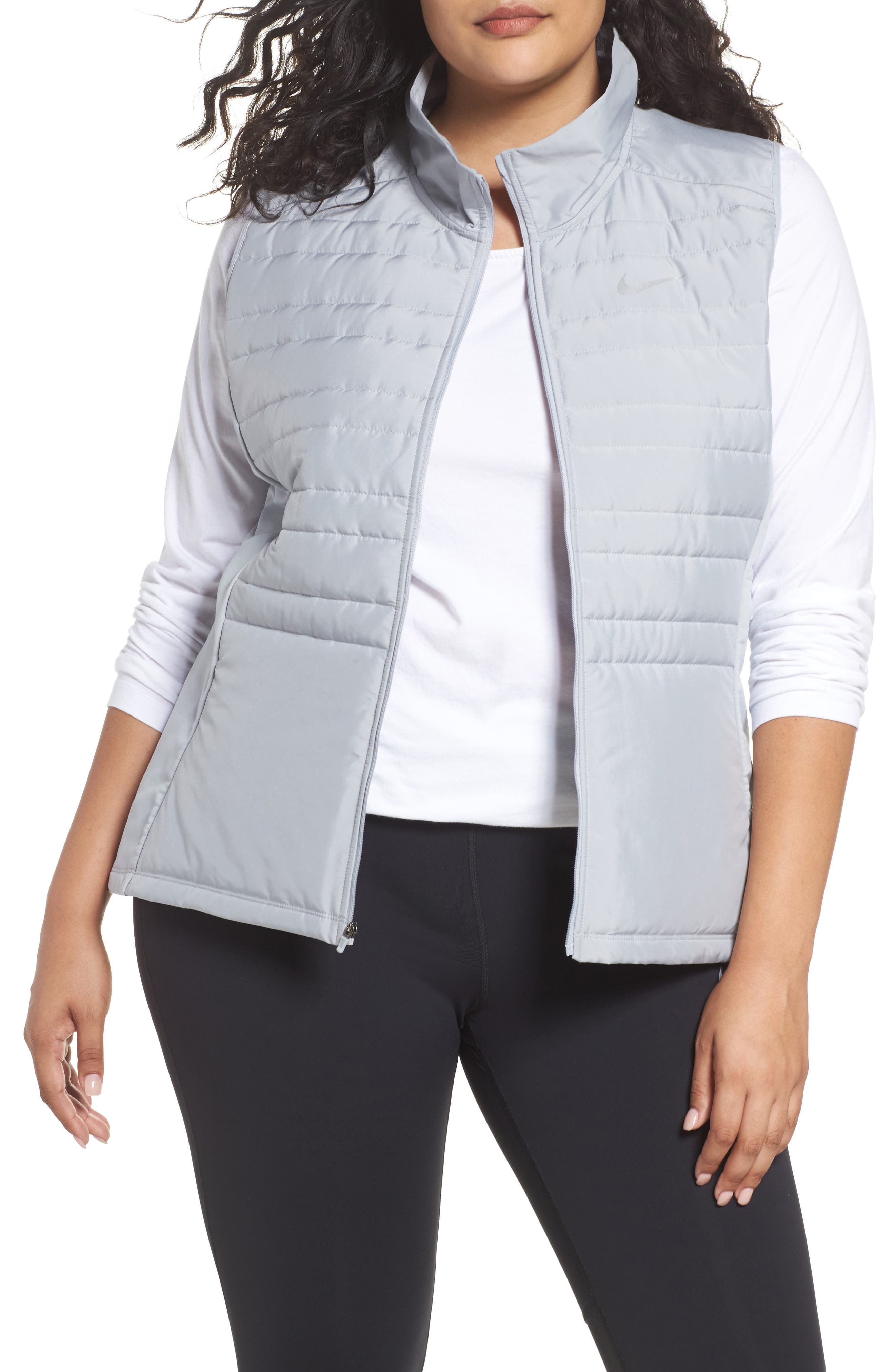 Essentials Running Vest,                             Main thumbnail 1, color,                             Wolf Grey/ Metallic Silver