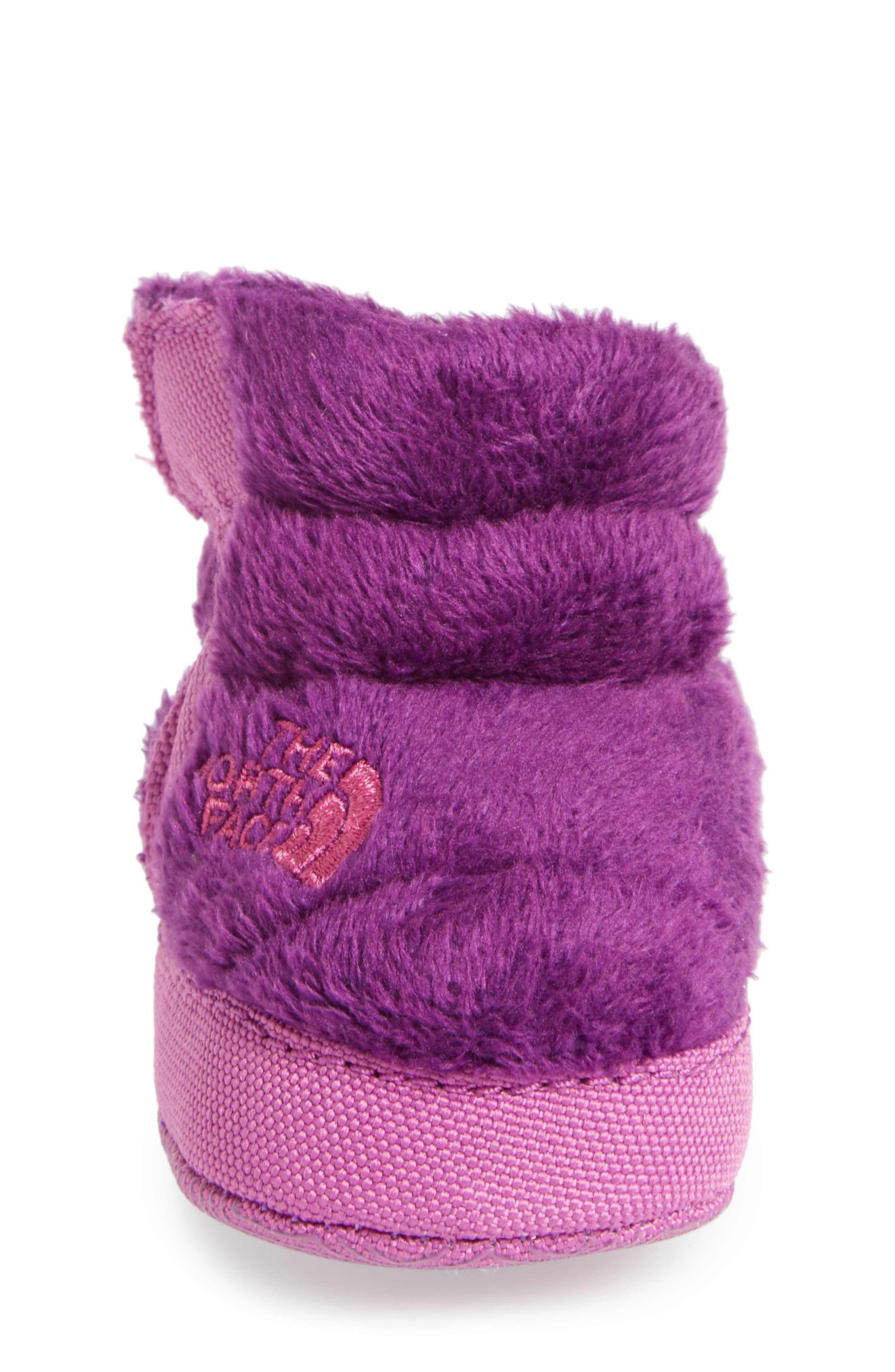 Faux Fur Bootie,                             Alternate thumbnail 4, color,                             Wood Violet