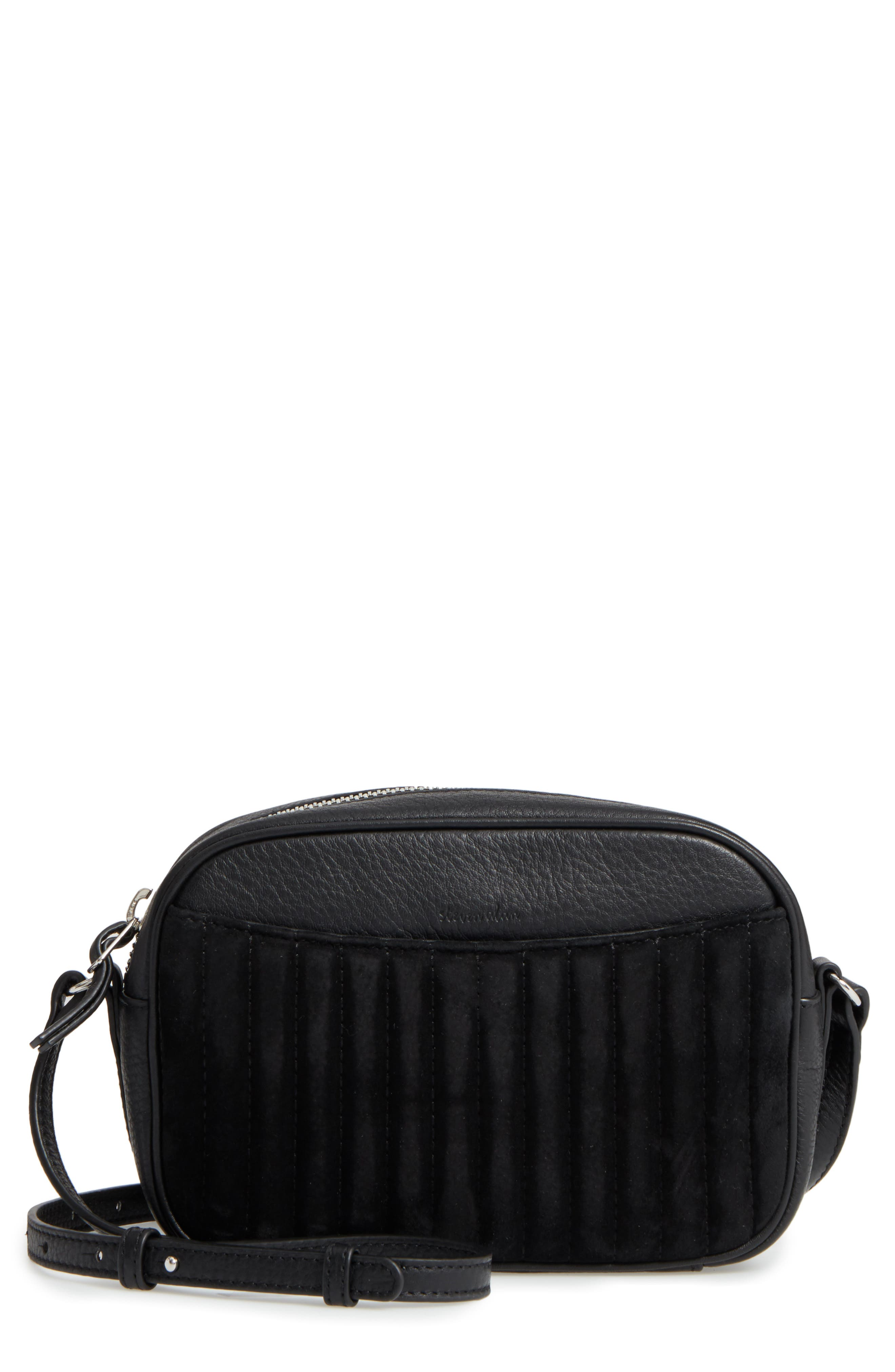 Steven Alan Ayla Leather & Quilted Suede Camera Bag