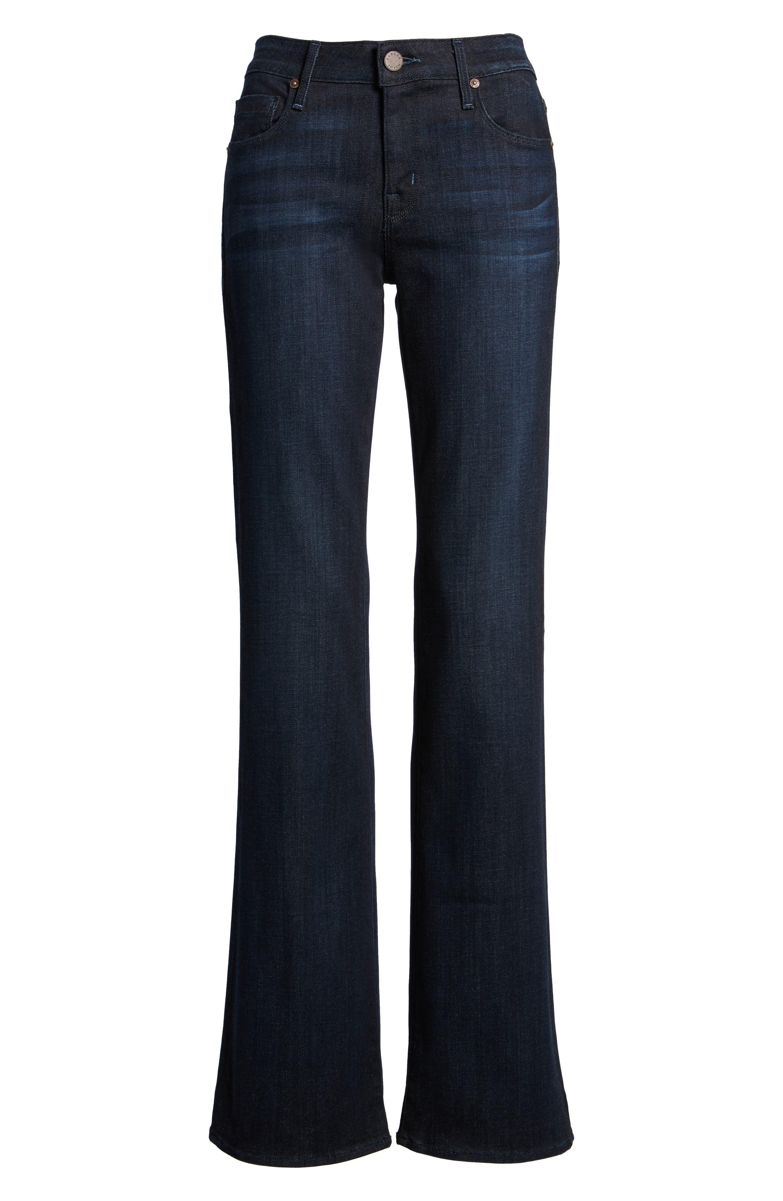 Alternate Image 6  - PARKER SMITH Becky Bootcut Jeans (Washed Sky)