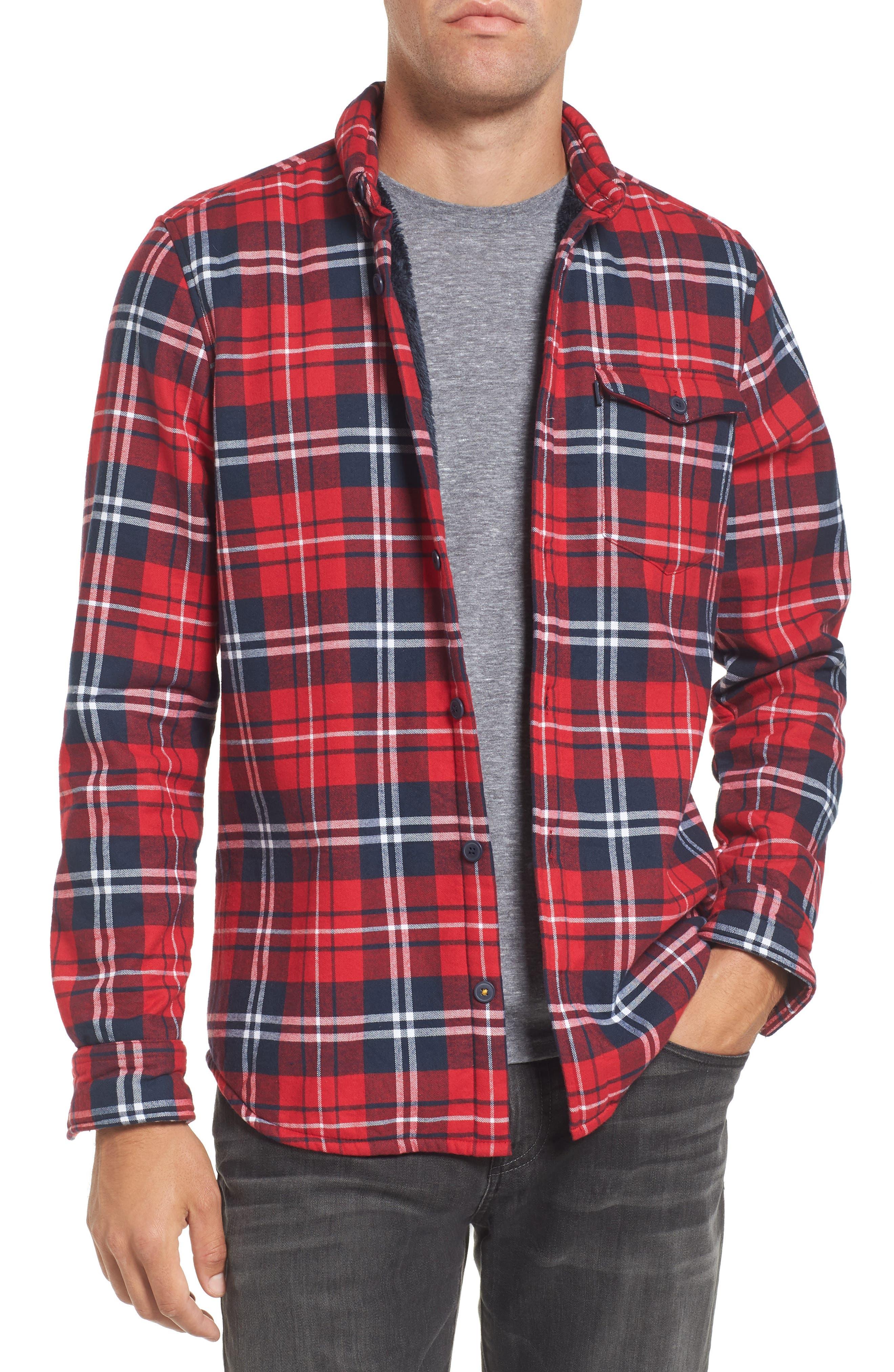 Alternate Image 1 Selected - Barbour Hamilton Regular Fit Faux Fur Lined Shirt Jacket