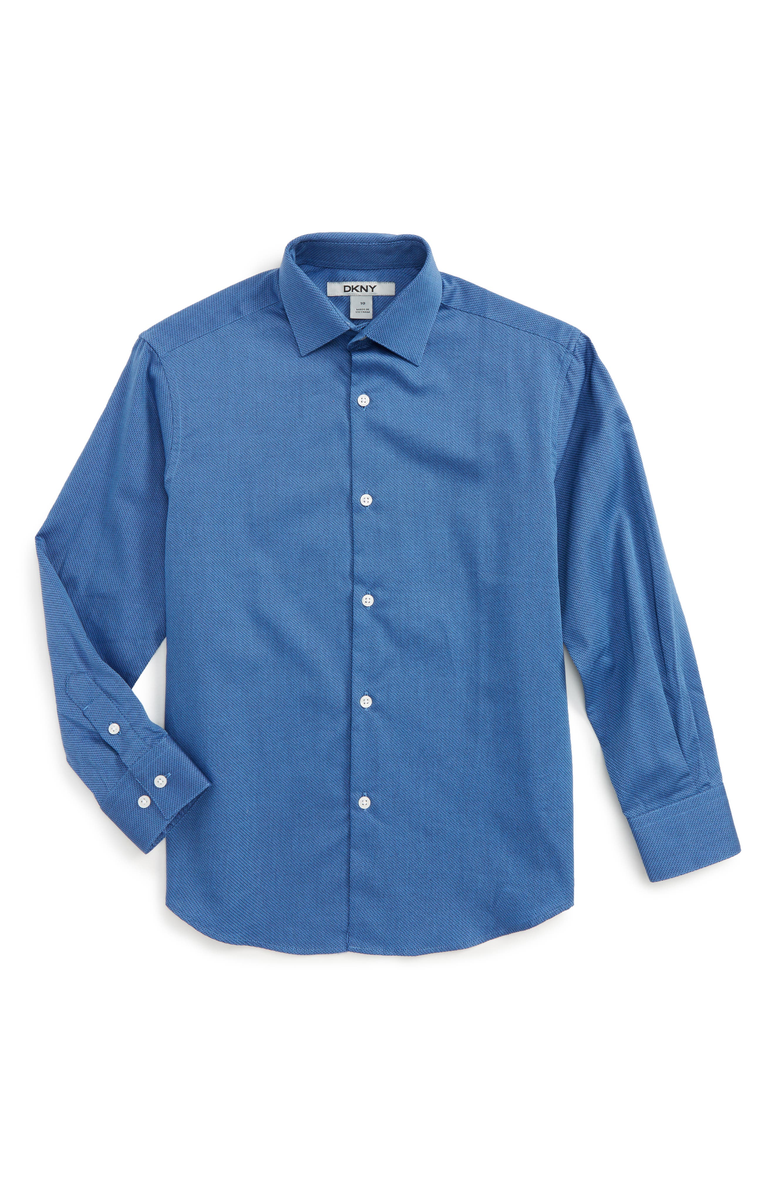 Alternate Image 1 Selected - DKNY Textured Dress Shirt (Big Boys)