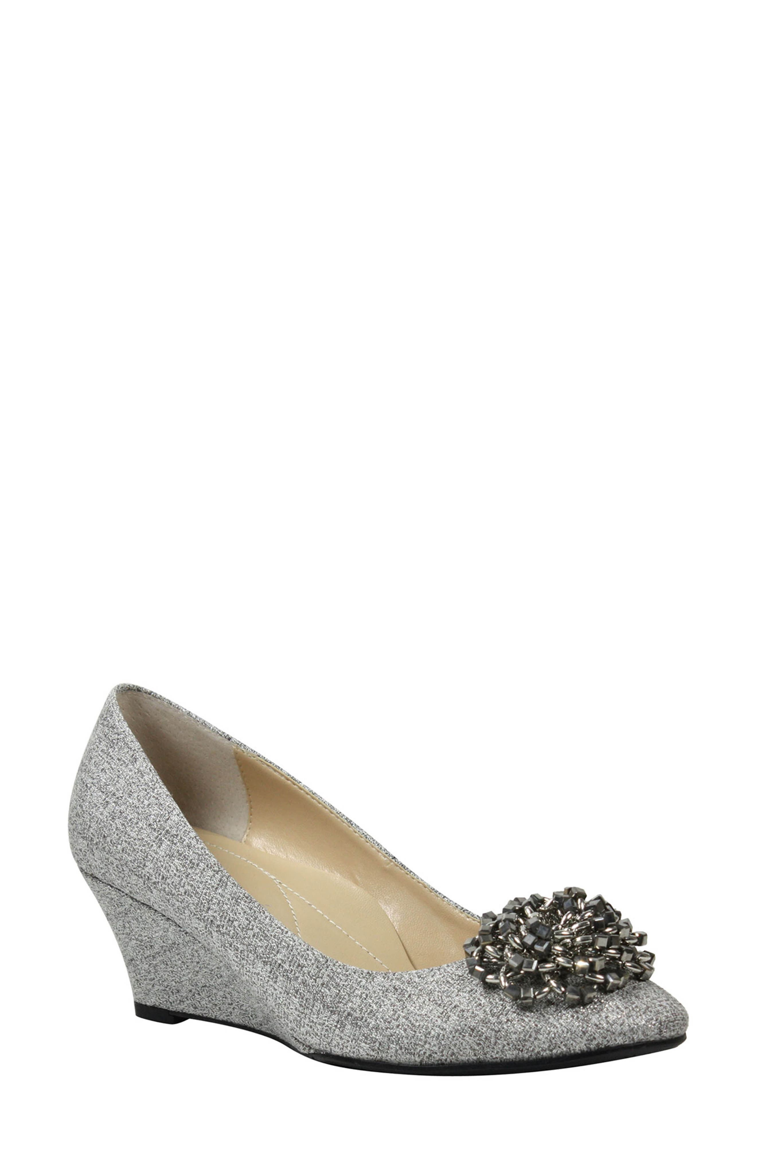 Eloisa Wedge,                             Main thumbnail 1, color,                             Pewter
