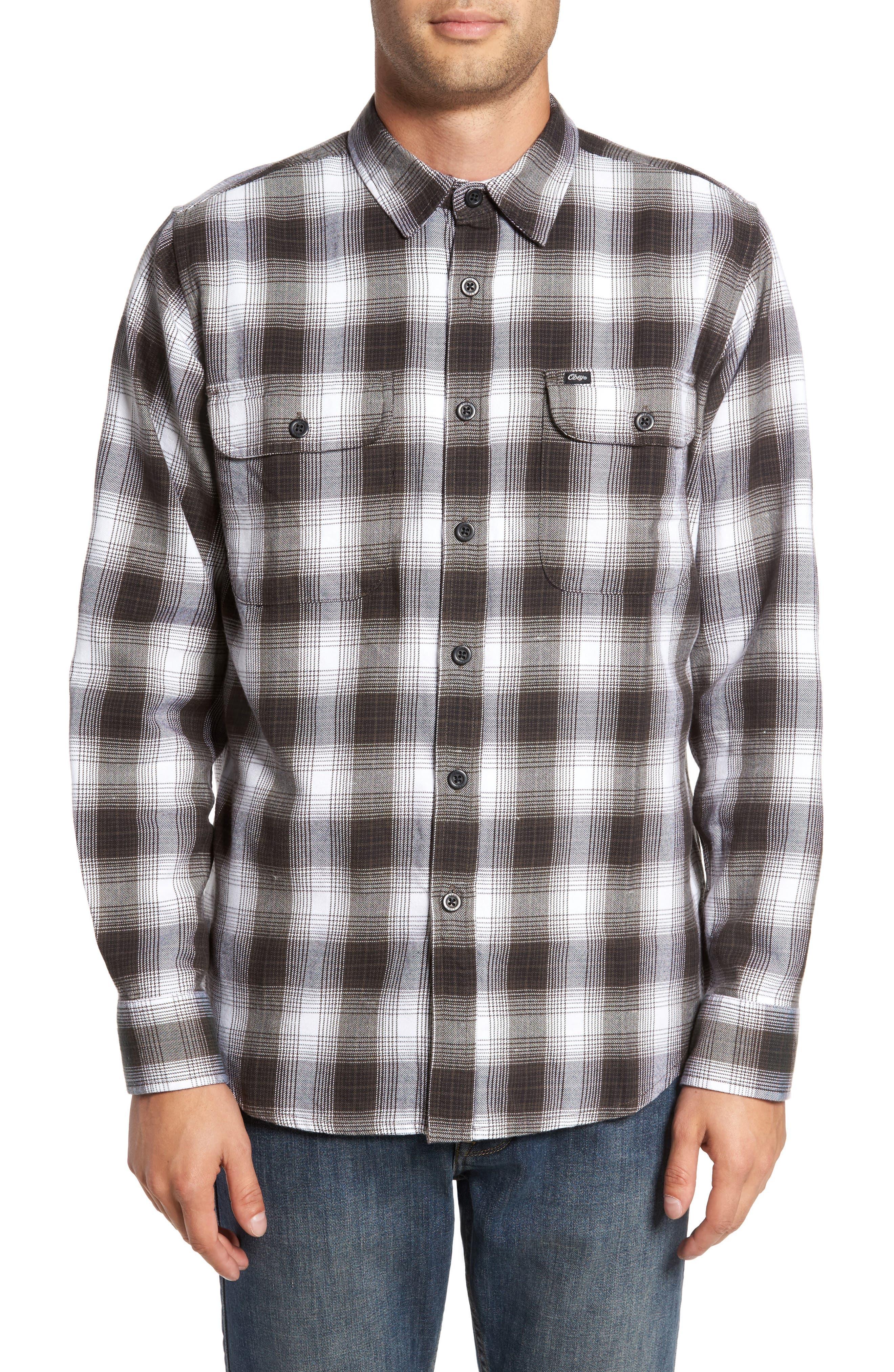 Kemper Plaid Woven Shirt,                         Main,                         color, Black Multi