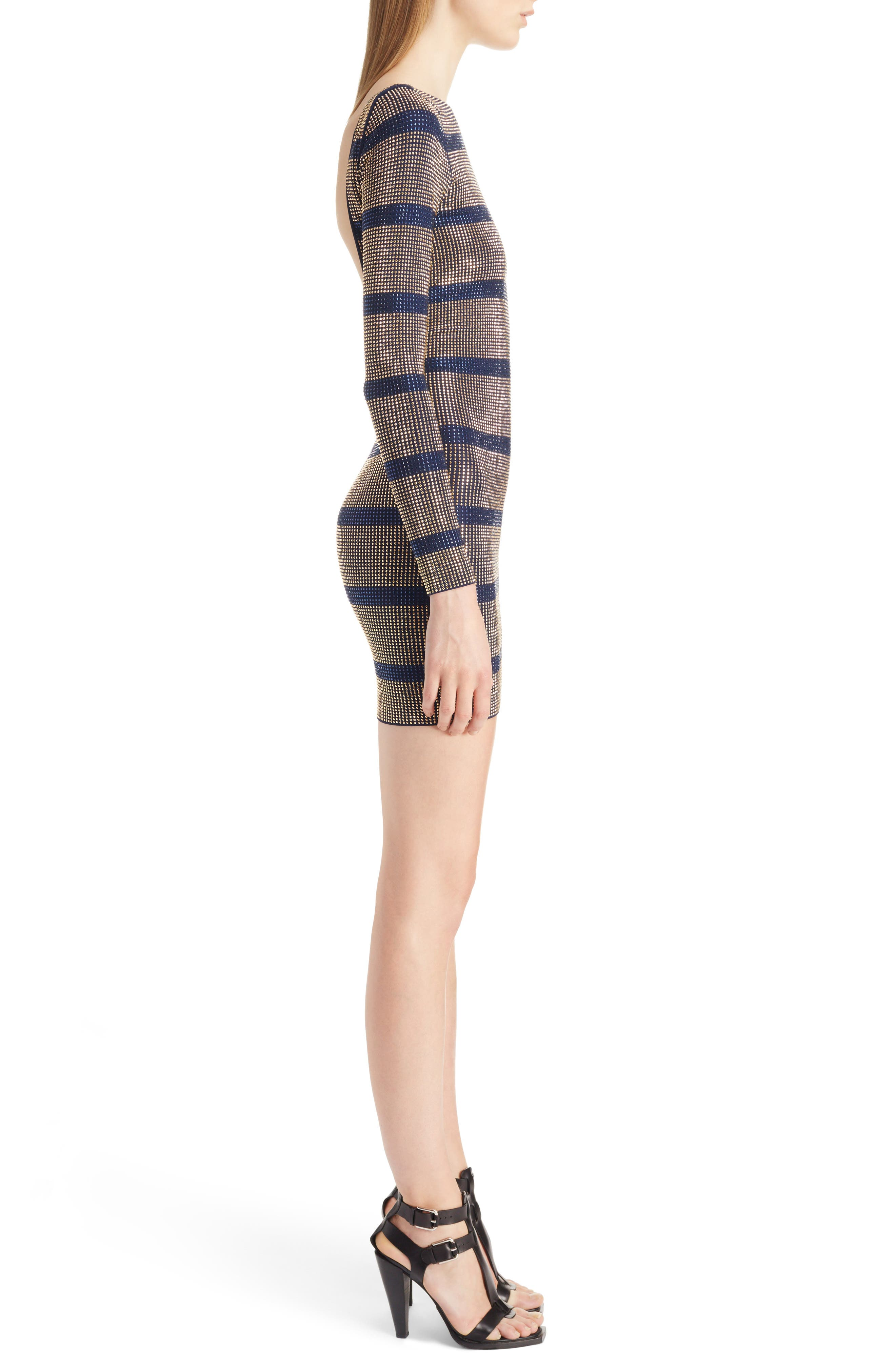 Alternate Image 3  - Balmain Embellished Stripe Minidress