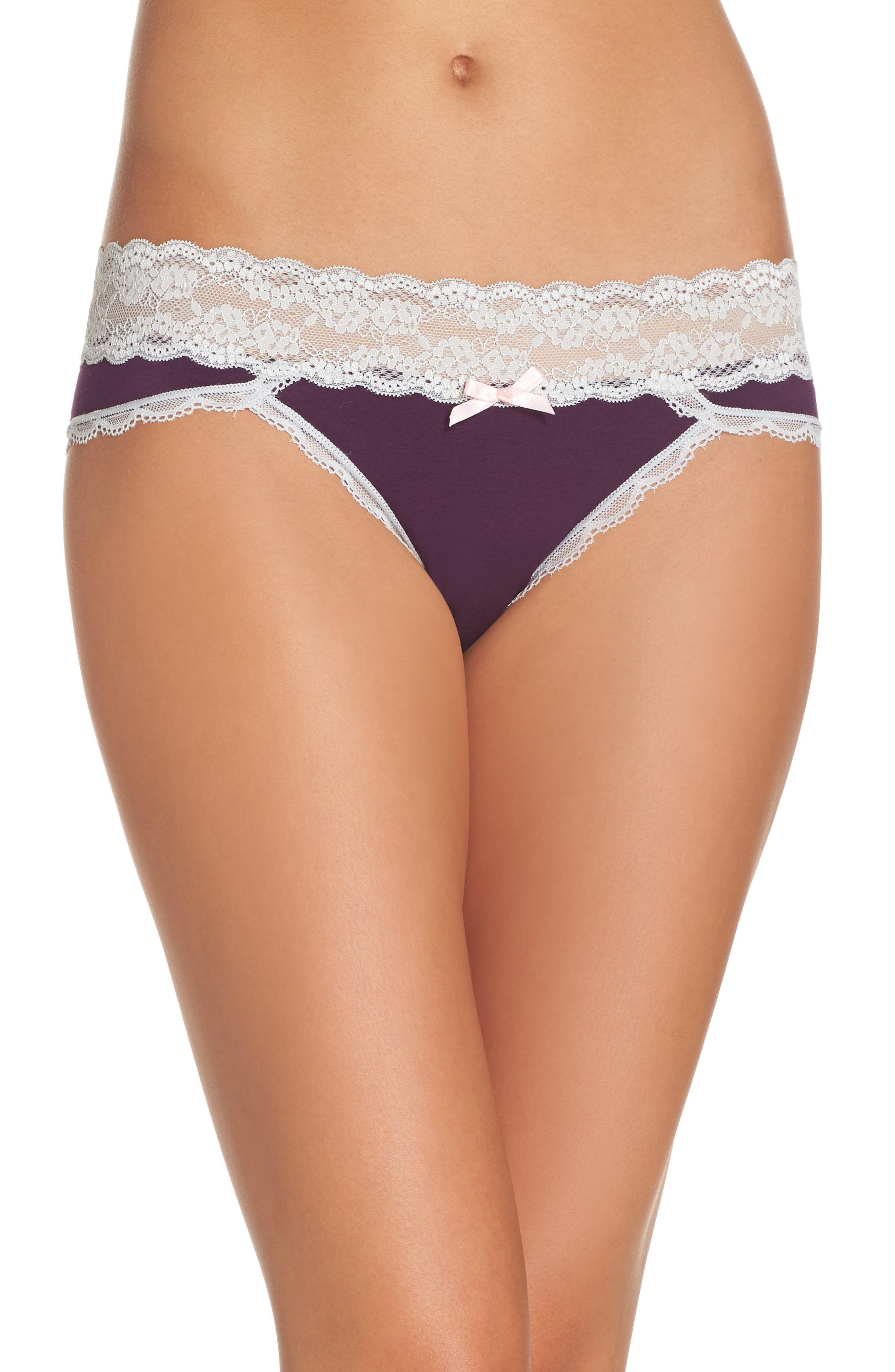 Alternate Image 1 Selected - Honeydew Intimates Lace Waistband Hipster Panties (3 for $33)