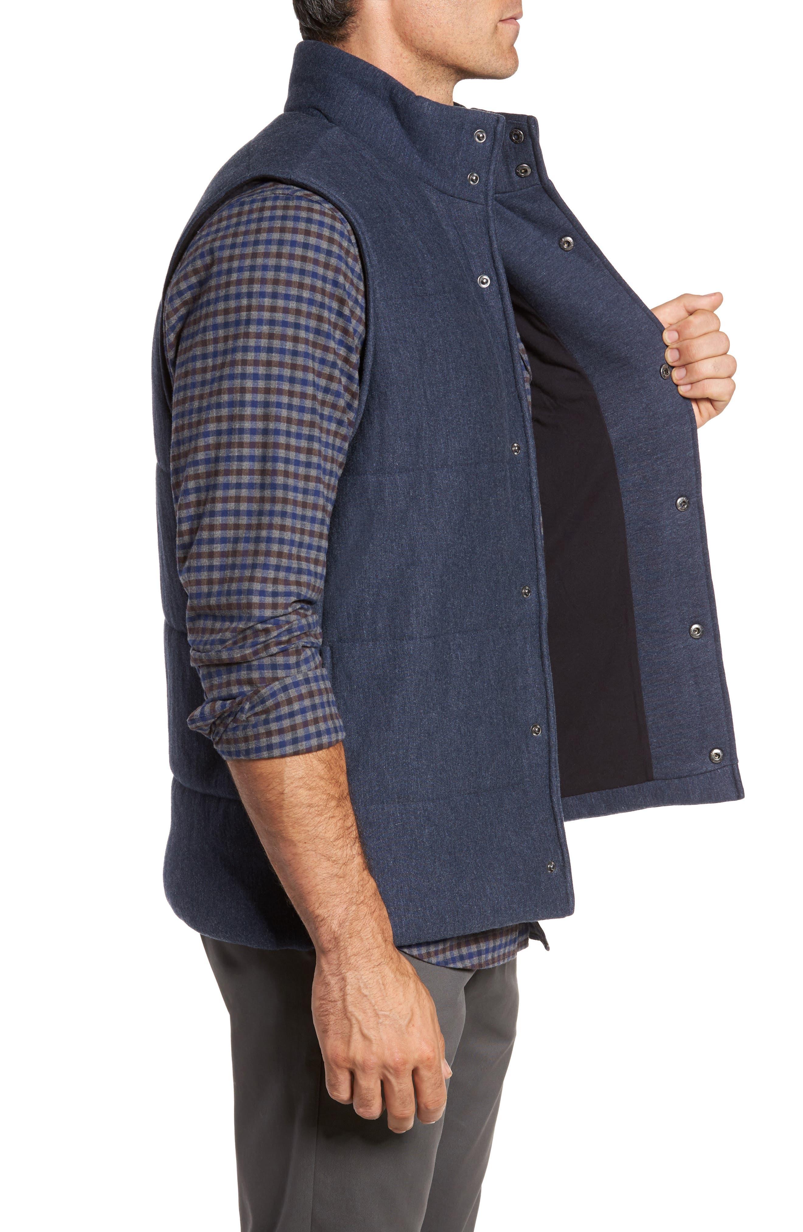Quilted Fleece Vest,                             Alternate thumbnail 3, color,                             Navy Iris Heather