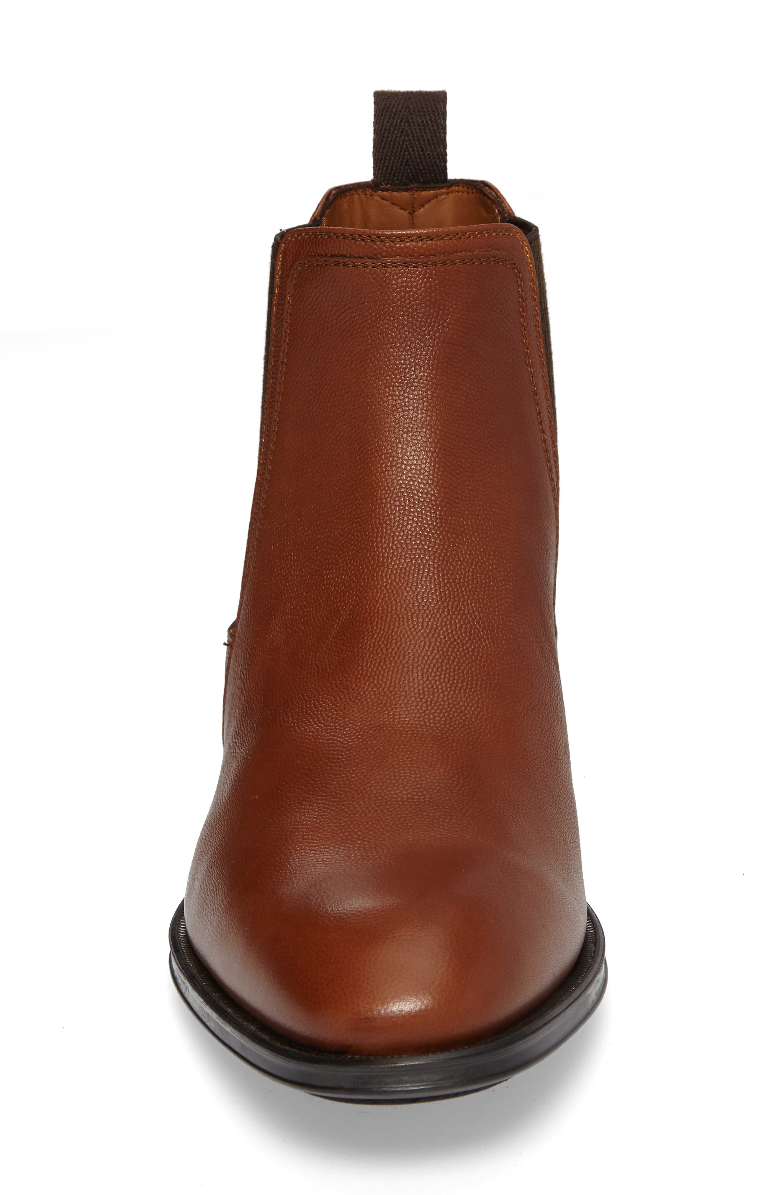 Damon Chelsea Boot,                             Alternate thumbnail 4, color,                             Cognac
