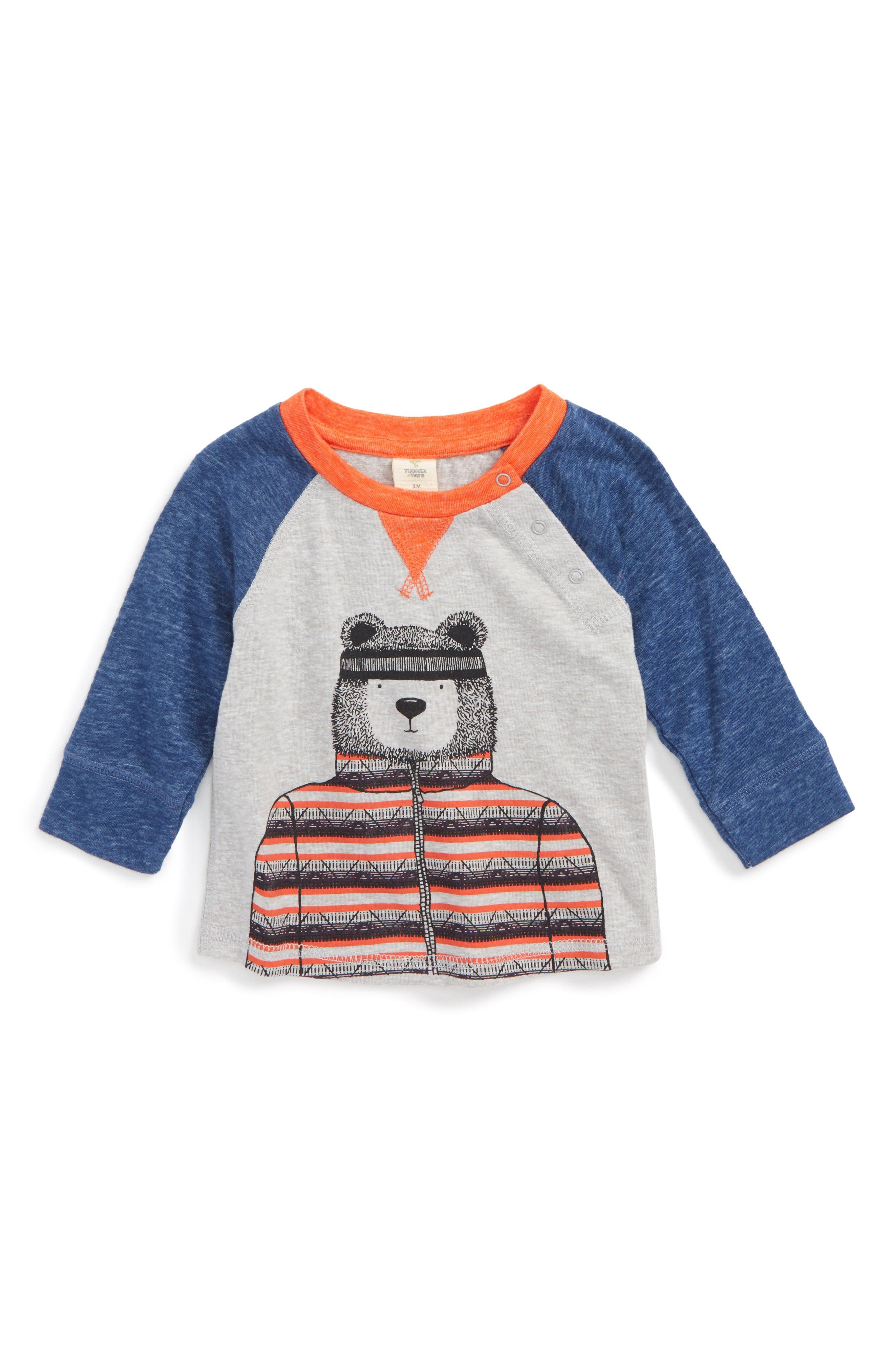 Flyaway Graphic T-Shirt,                         Main,                         color, Grey Ash Heather Bear Cub