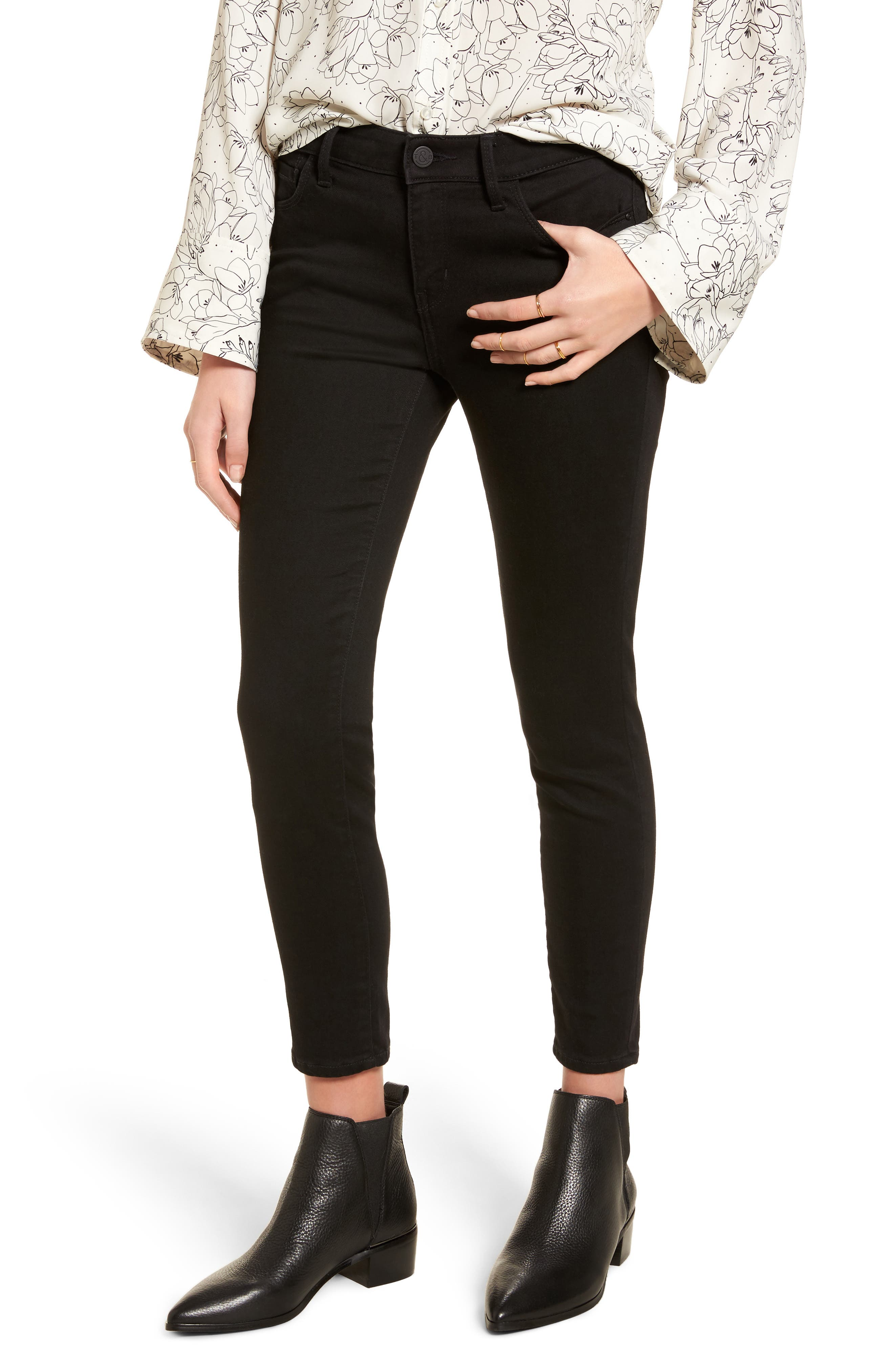 Legacy Crop Skinny Jeans,                         Main,                         color, Midnight Rinse