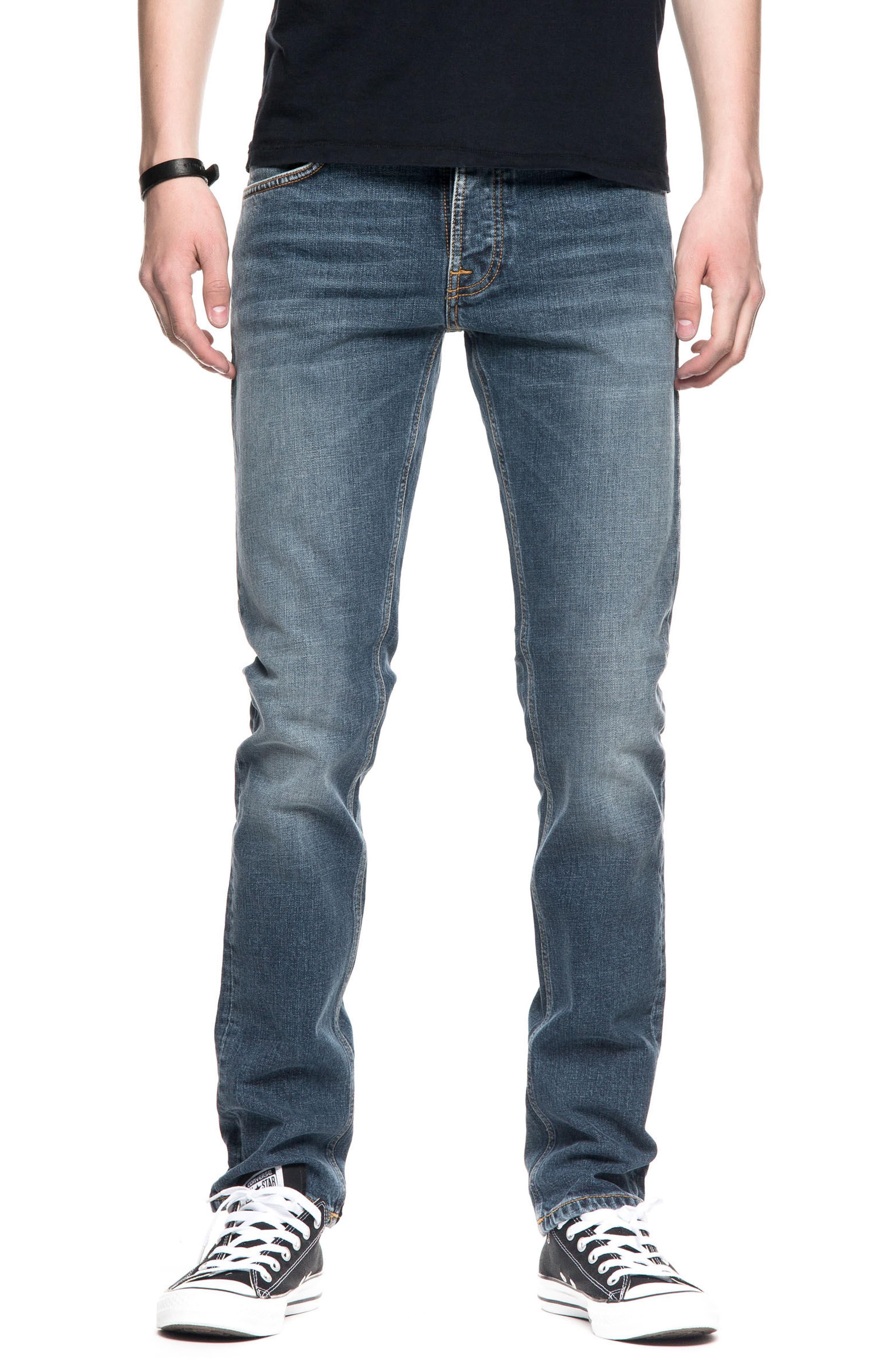 Nudie Jeans Grim Tim Slim Fit Jeans (Blue Halo)