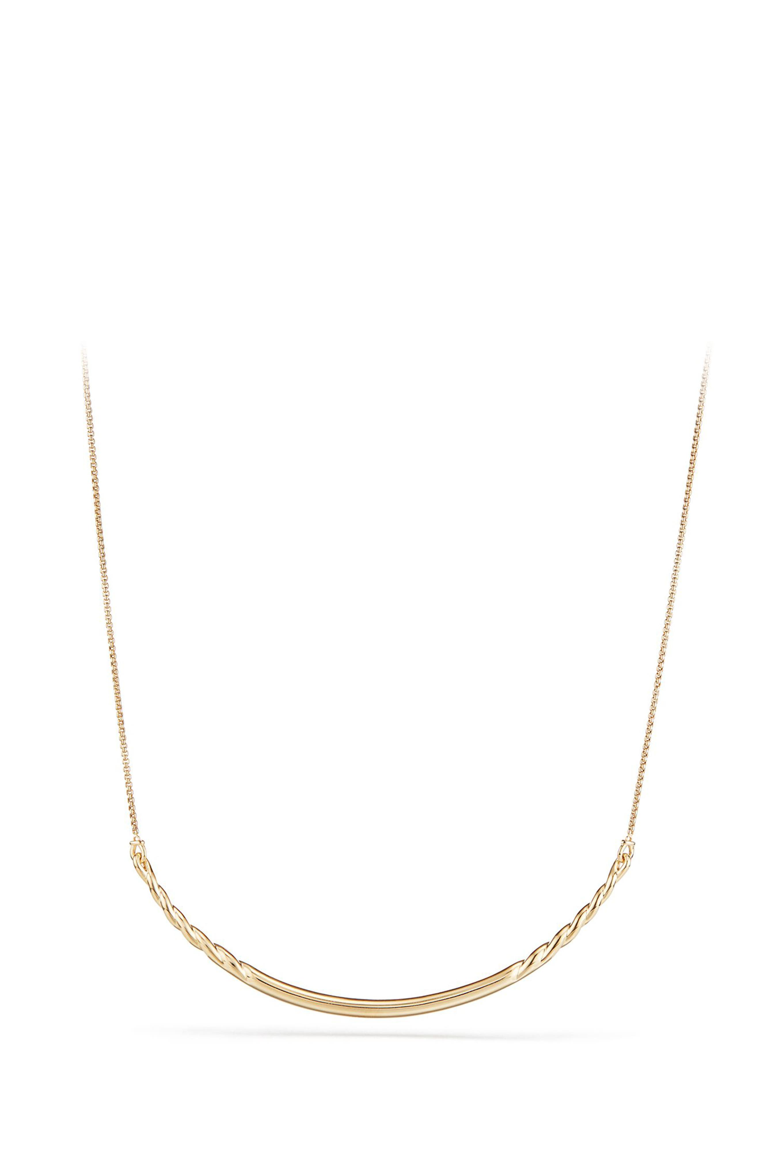 Pure Form Collar Necklace in 18K Gold,                         Main,                         color, Yellow Gold
