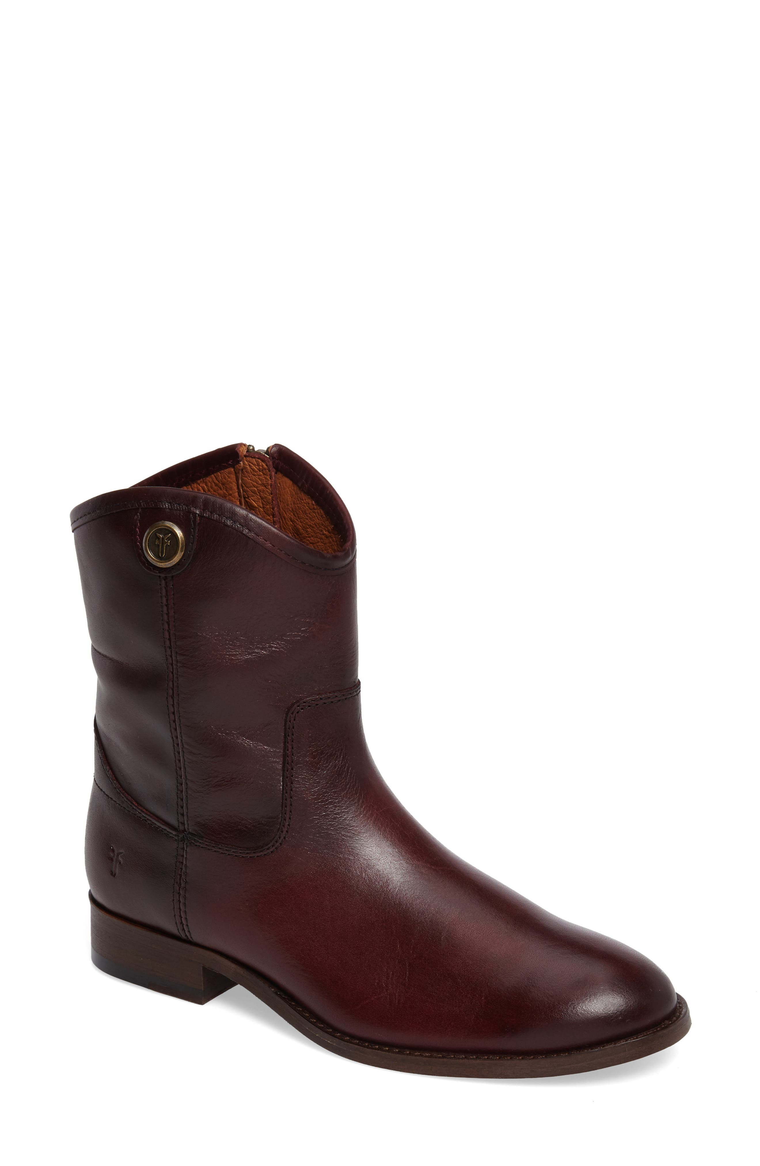 Melissa Short 2 Boot,                         Main,                         color, Wine Leather