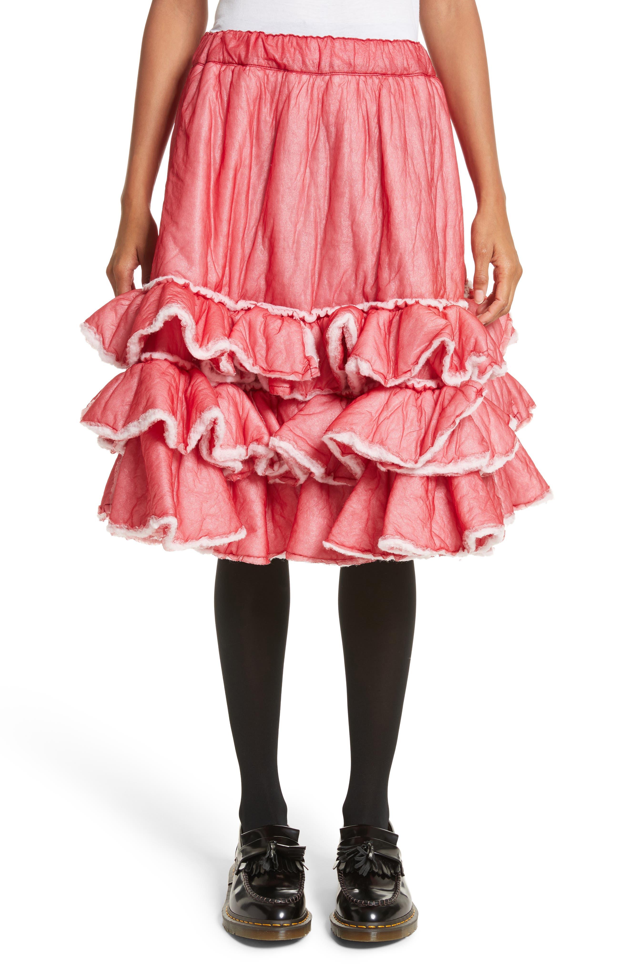 Comme des Garçons Ruffle Hem Nylon Skirt