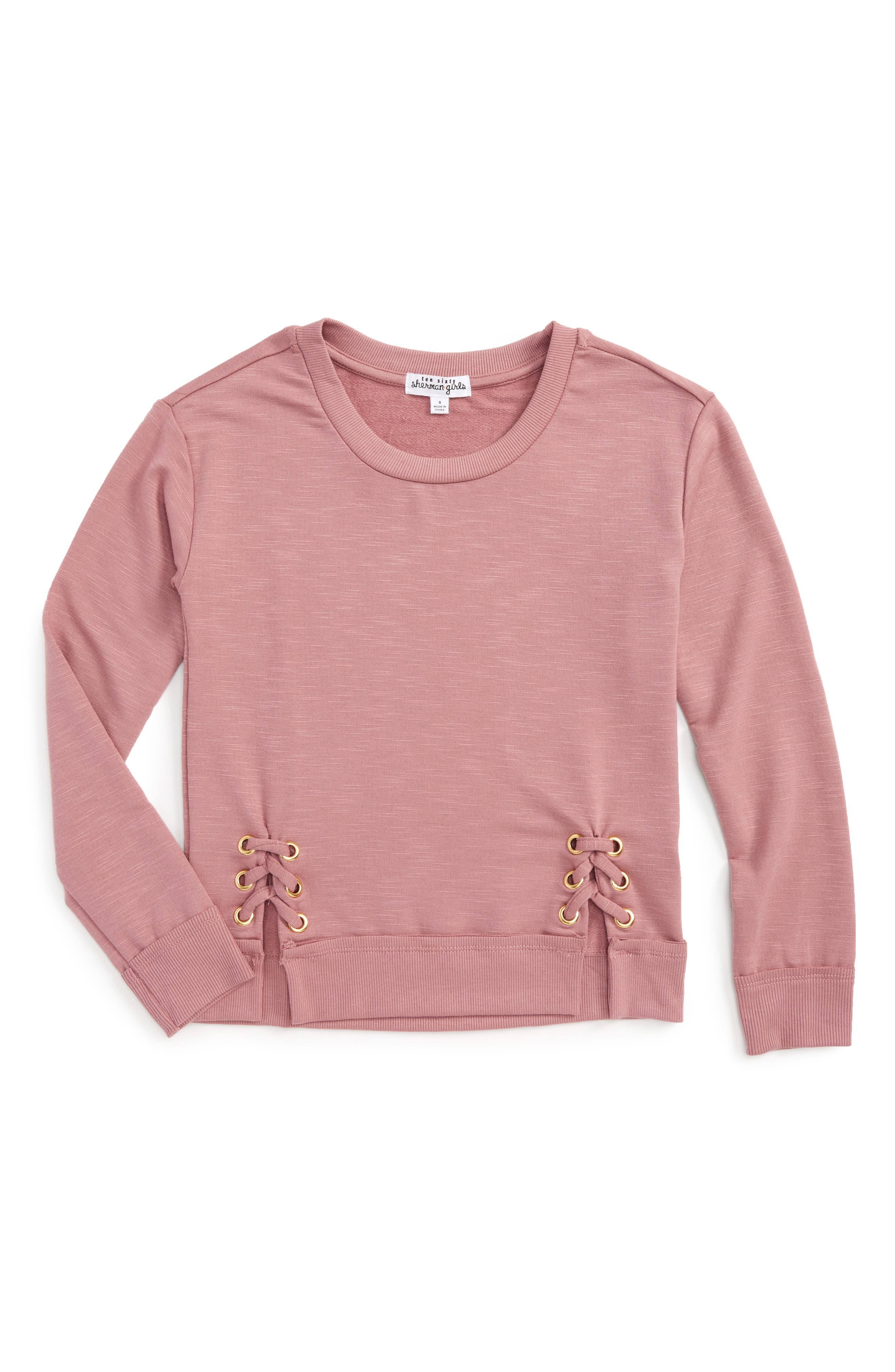 Ten Sixty Sherman Side Lace-Up Sweatshirt (Big Girls)