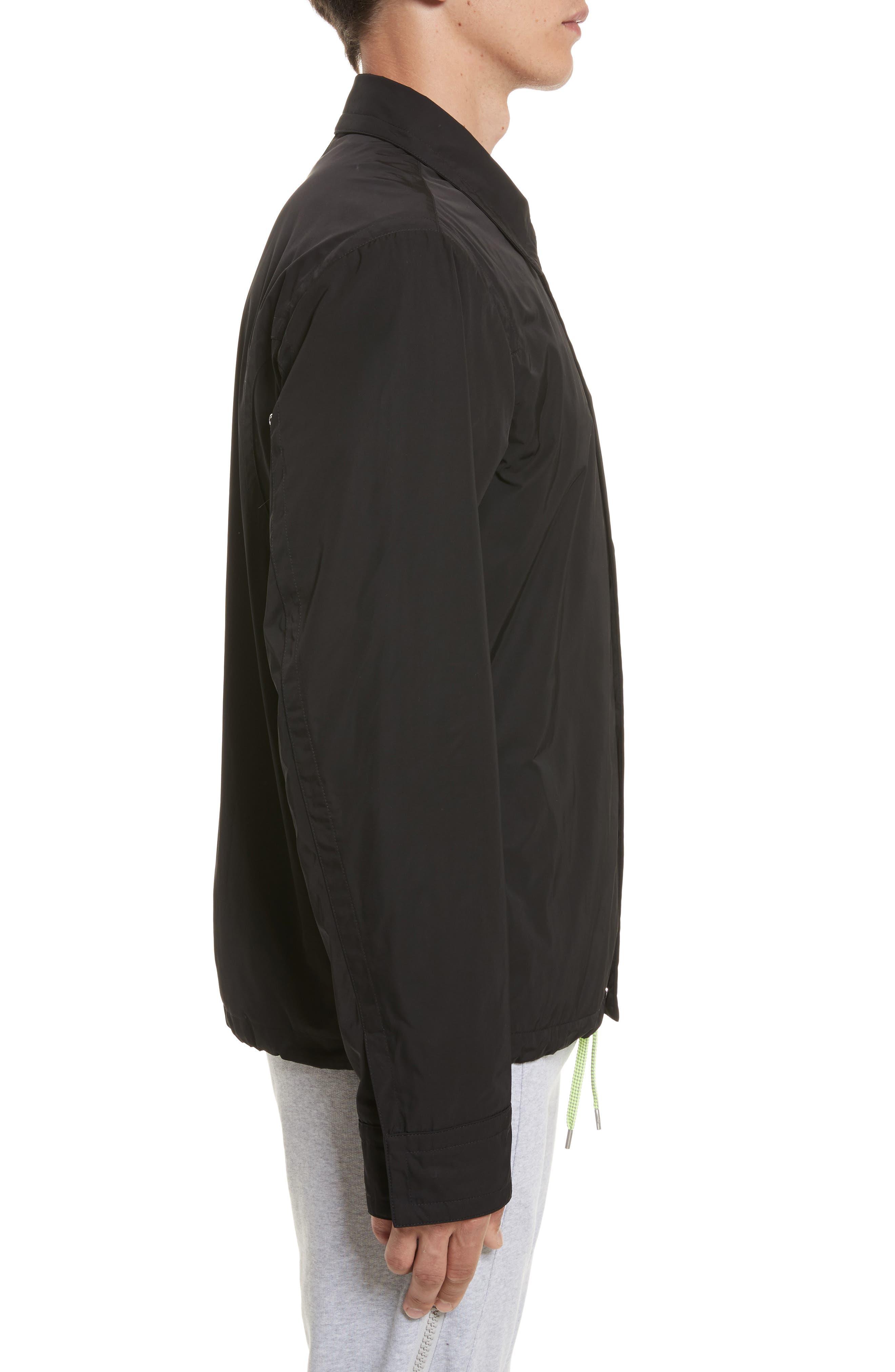 VERSUS by Versace Tech Jacket,                             Alternate thumbnail 3, color,                             Black