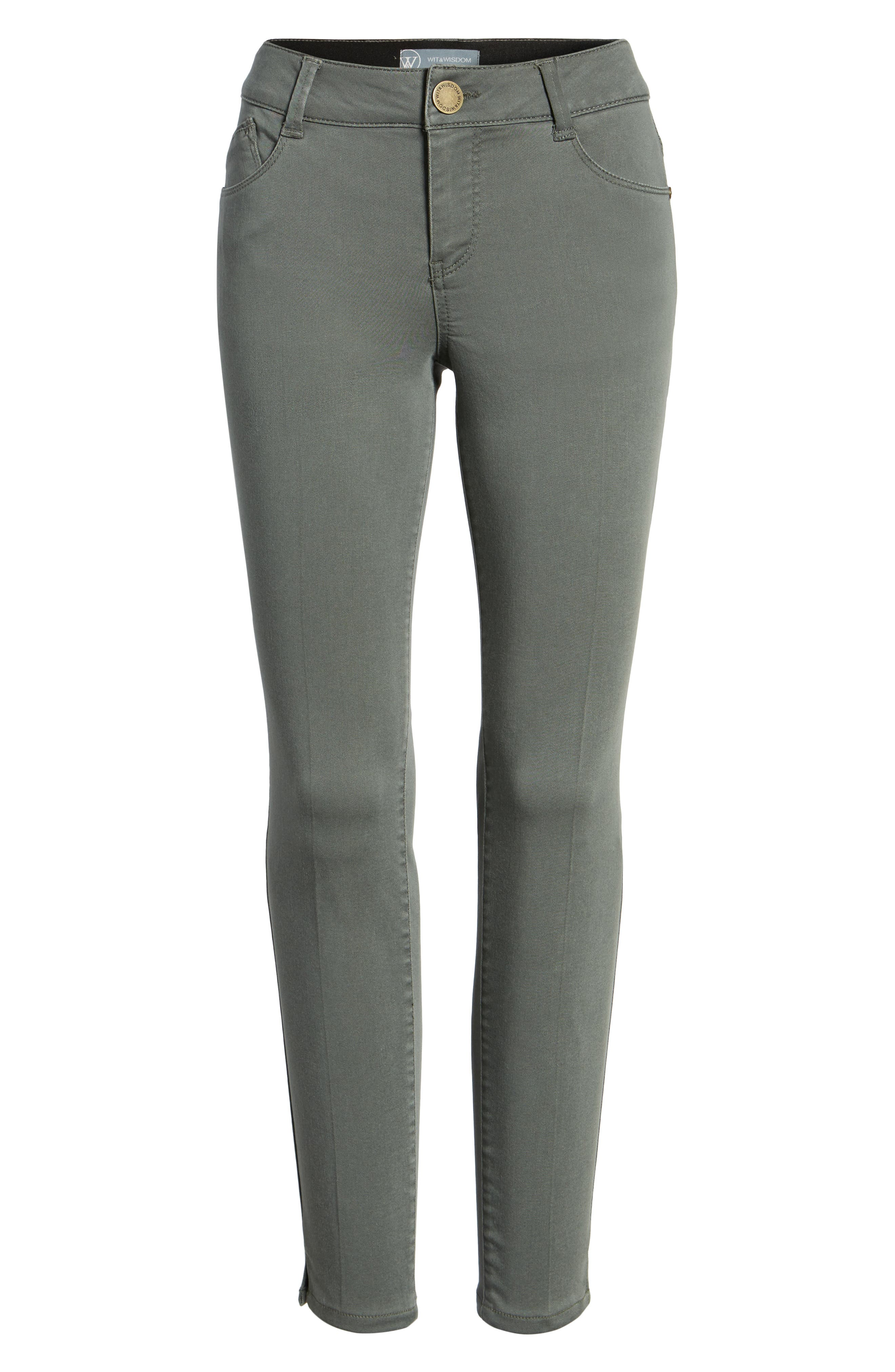 Ab-solution Stretch Twill Skinny Pants,                         Main,                         color, Thyme