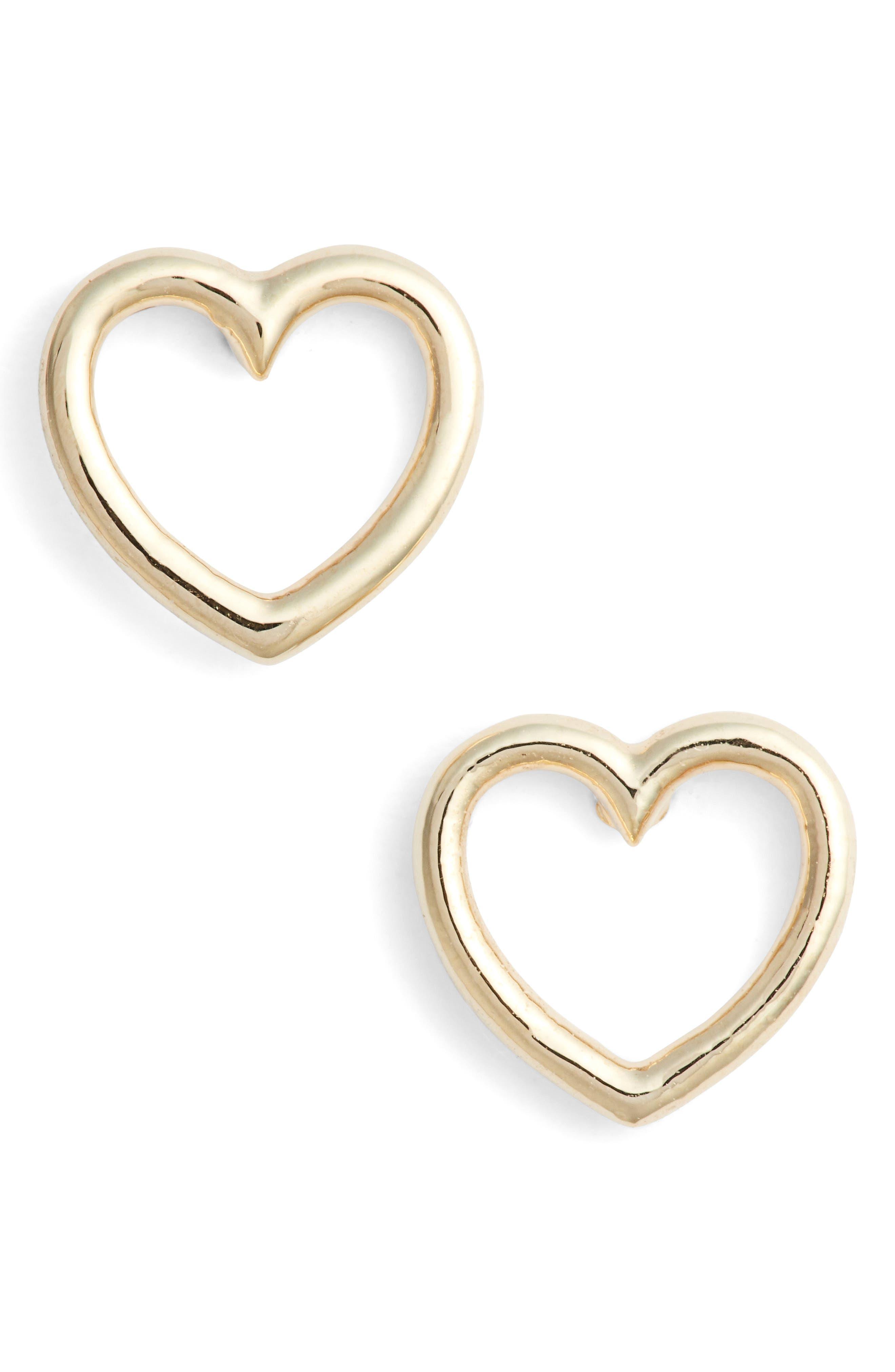 Estella Bartlett Small Open Heart Stud Earrings