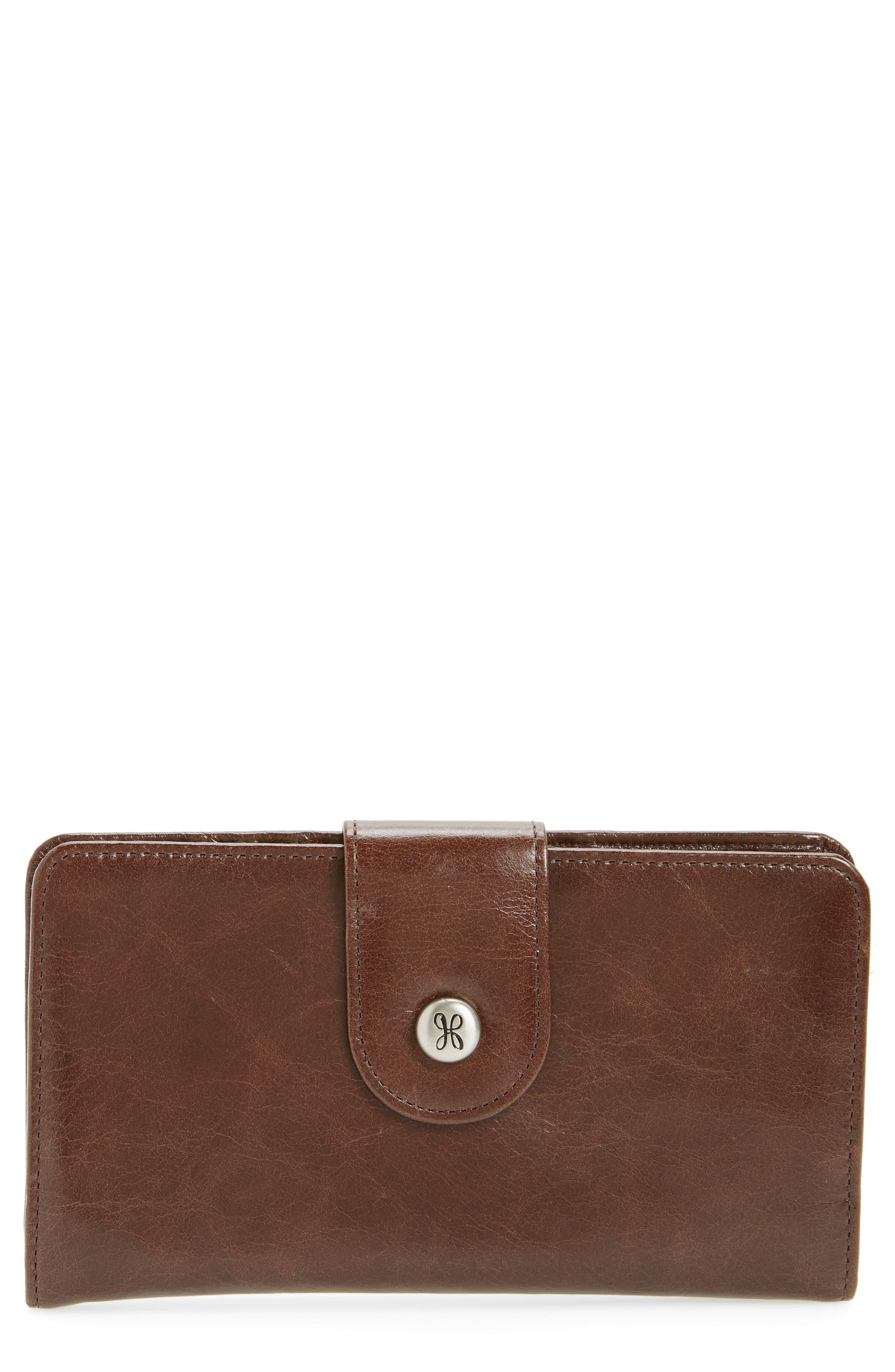Hobo 'Danette' Glazed Leather Continental Wallet