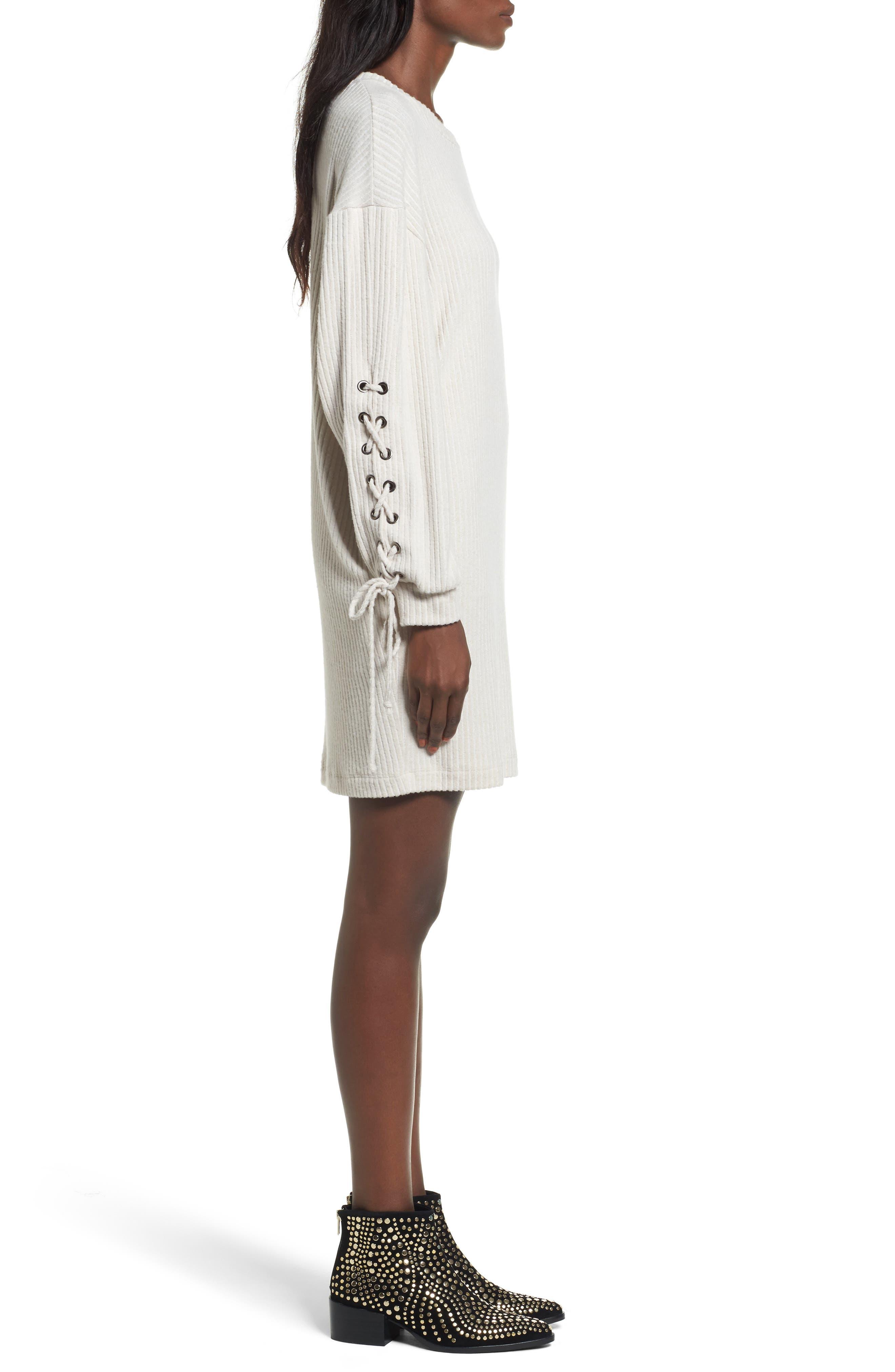 Alternate Image 3  - Lace-Up Sweater Dress