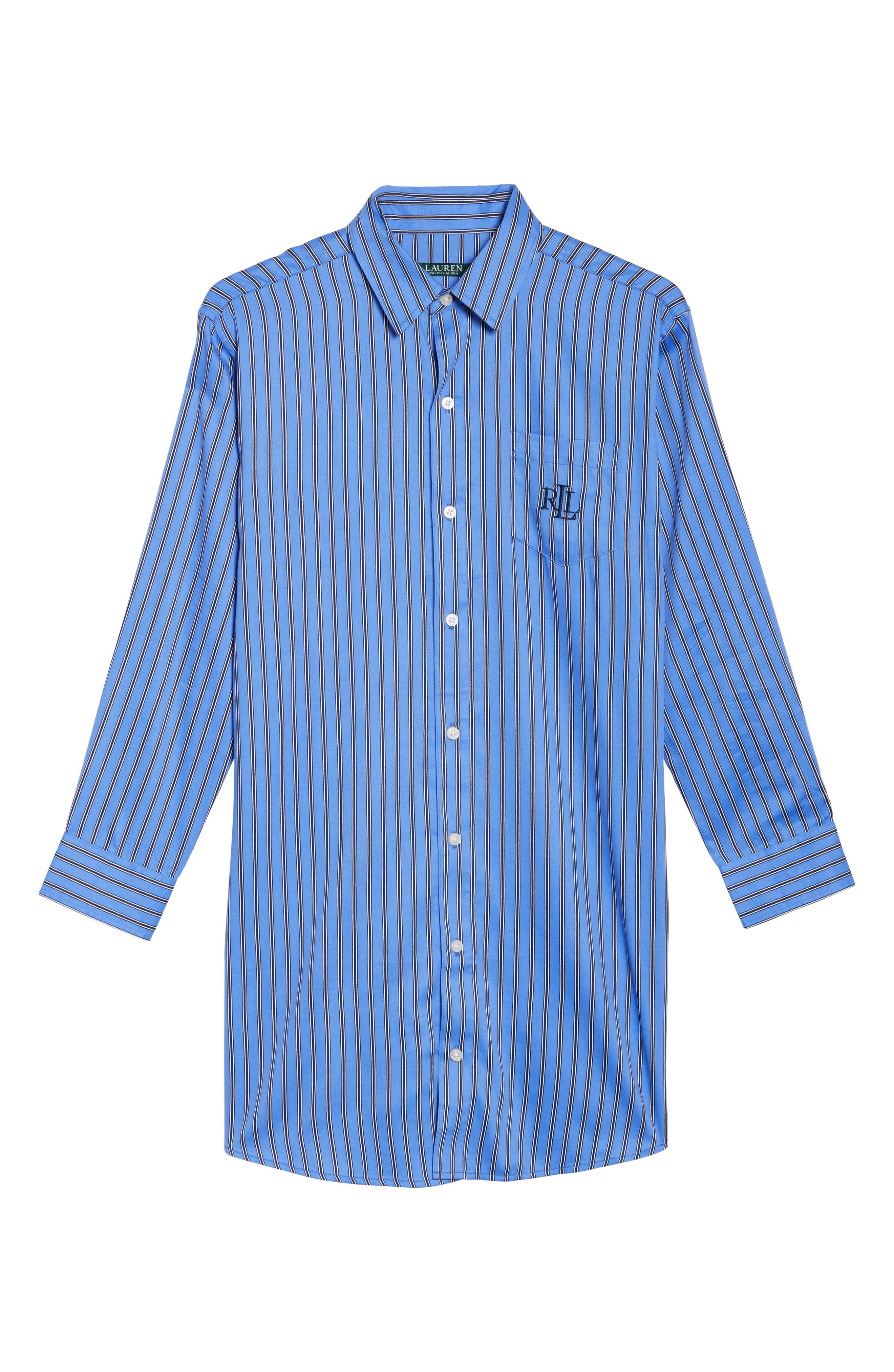 Alternate Image 4  - Lauren by Ralph Lauren Paisley Sleep Shirt