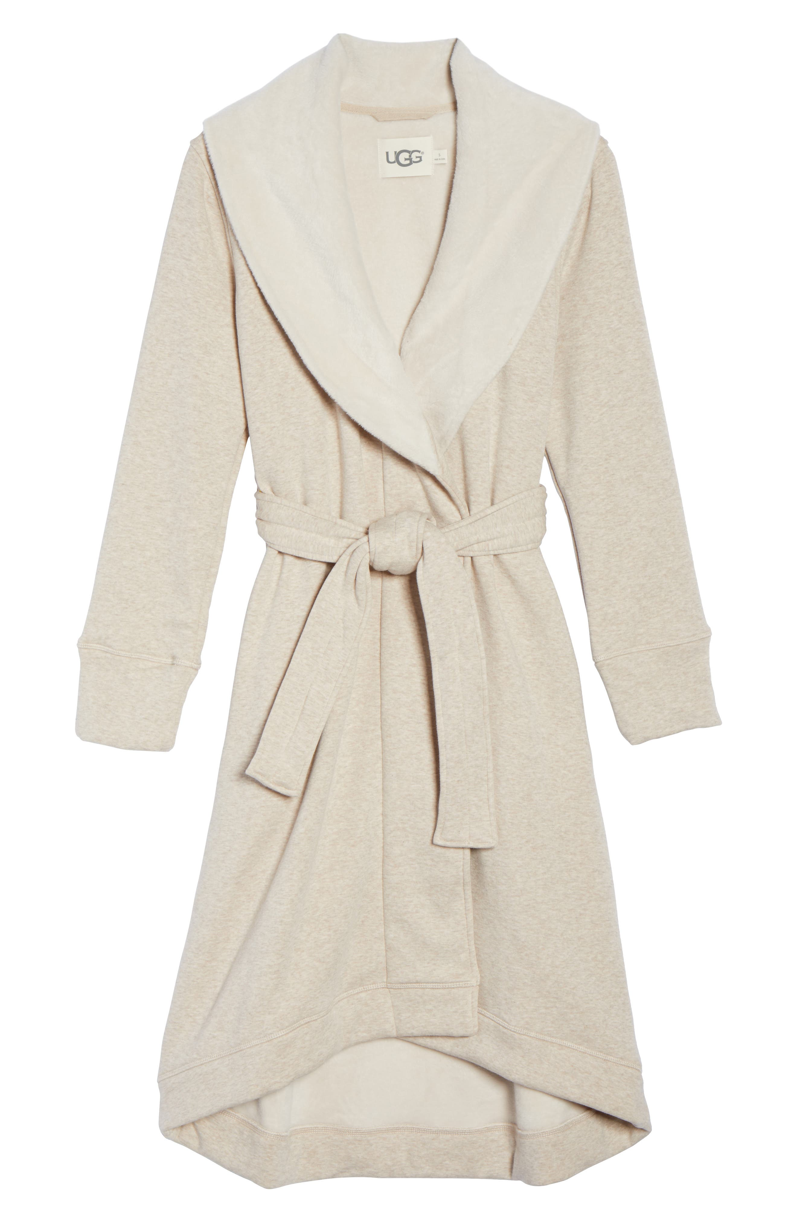 Alternate Image 6  - UGG® Duffield Double Knit Robe