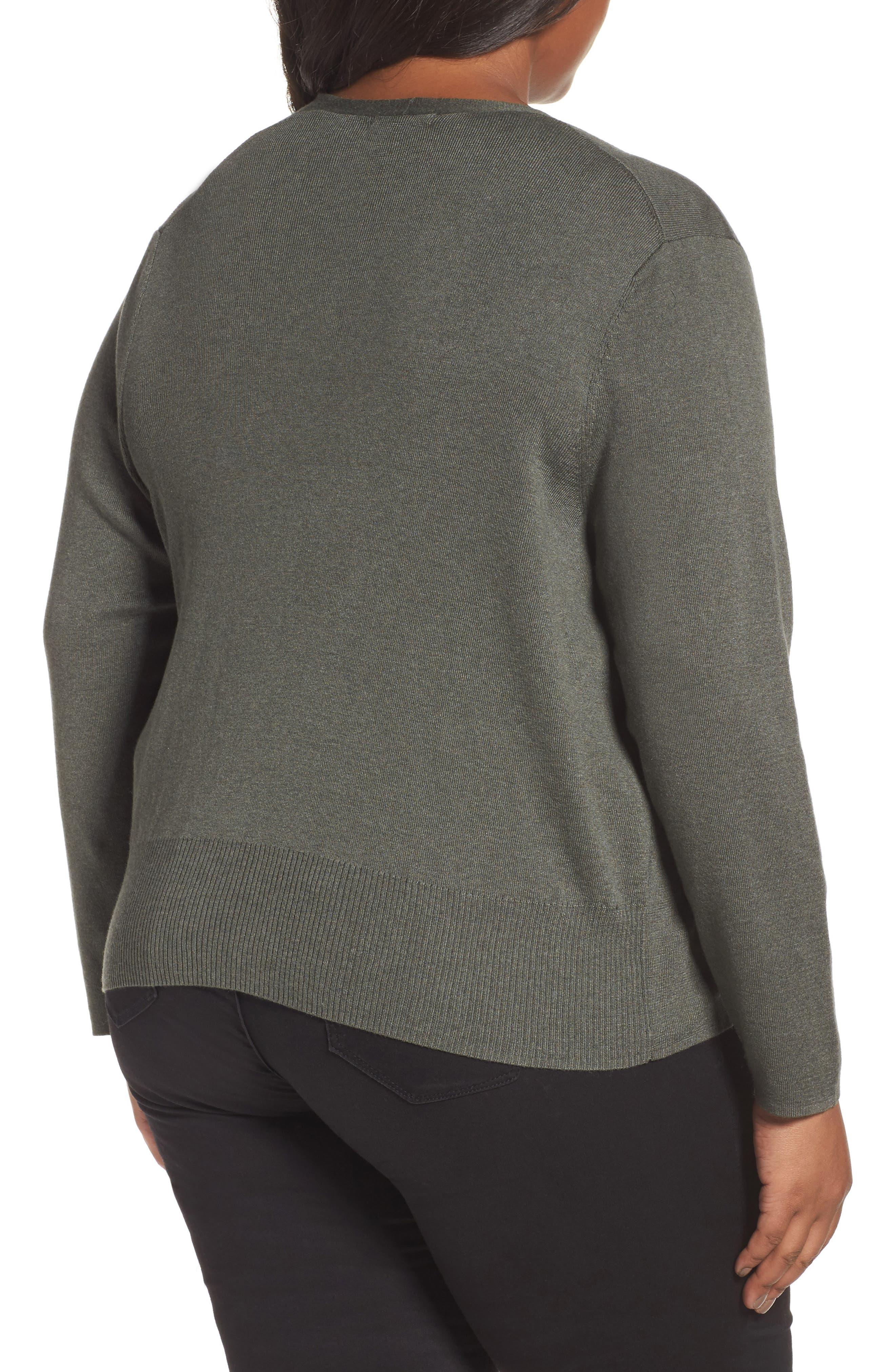 Alternate Image 2  - NIC+ZOE 4-Way Convertible Cardigan (Plus Size)