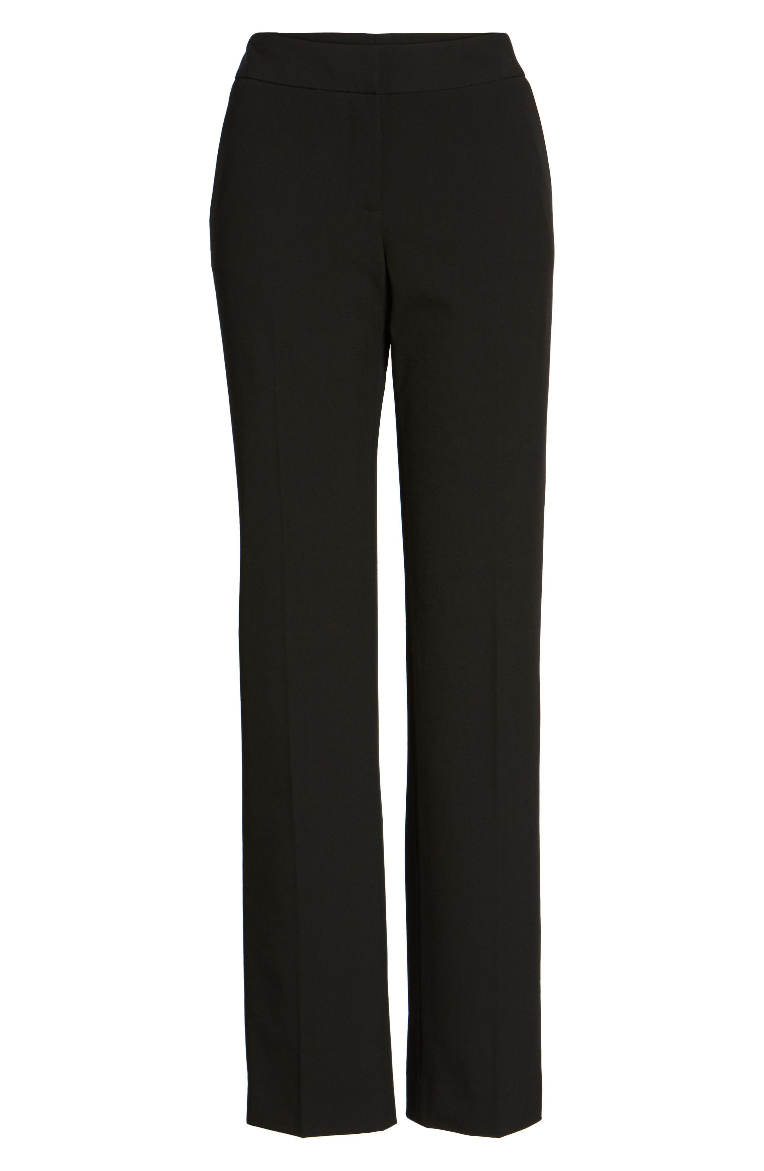 Stovepipe Pants,                             Alternate thumbnail 6, color,                             Black