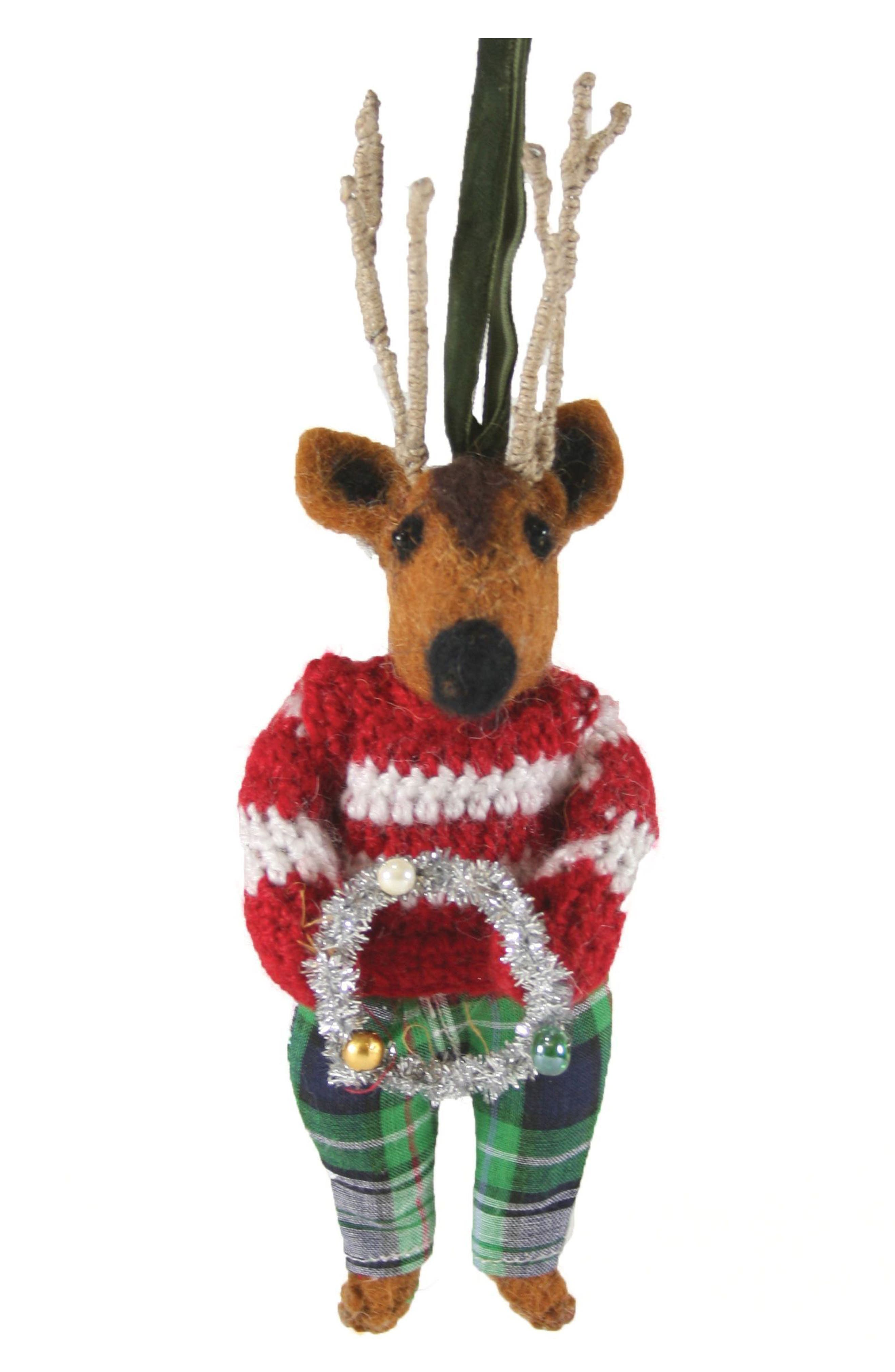 Cody Foster Reindeer Felt Ornament