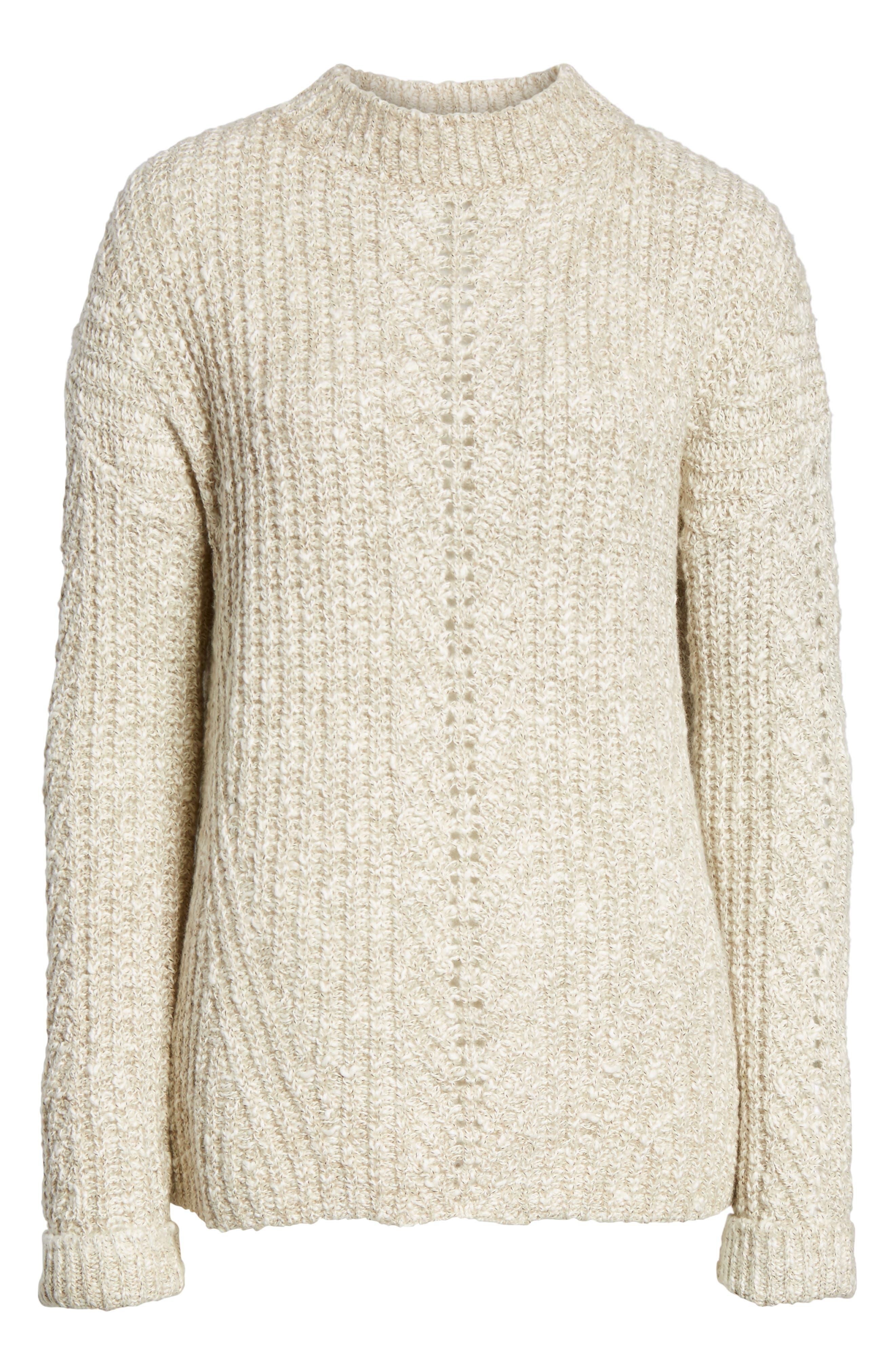 Alternate Image 6  - Lucky Brand Open Stitch Sweater