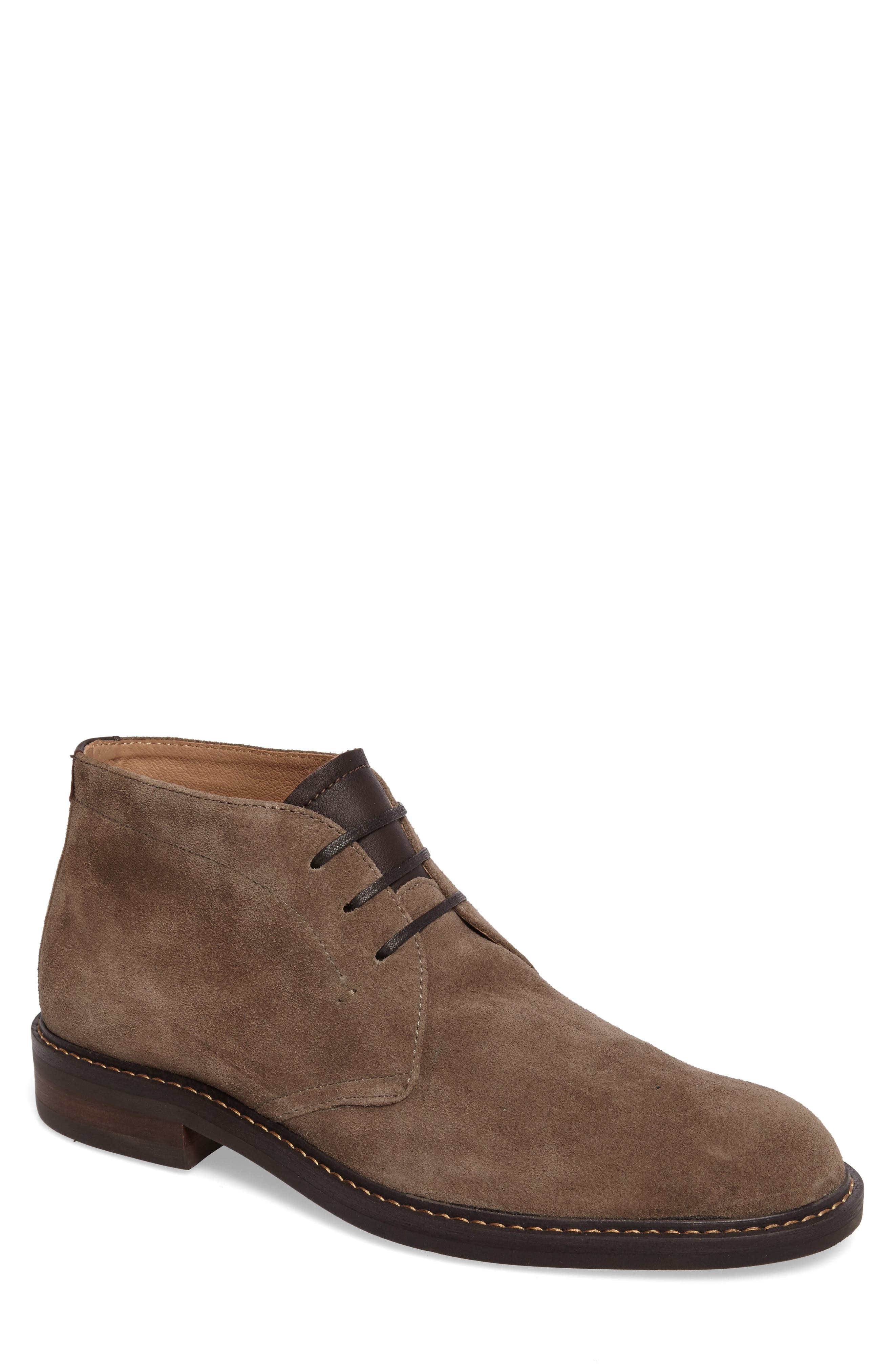 Barrett Chukka Boot,                         Main,                         color, Taupe Suede