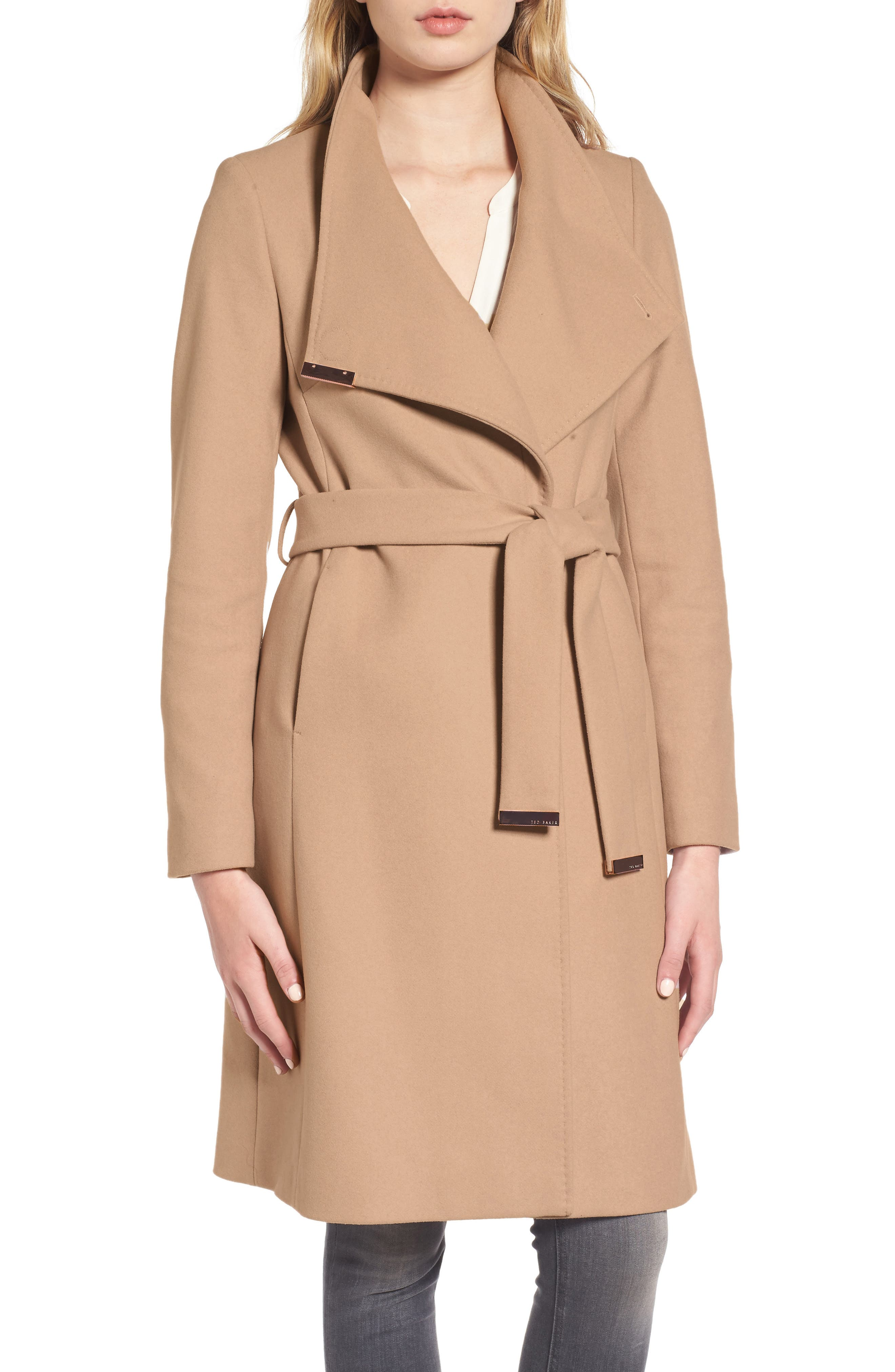 Main Image - Ted Baker London Wool Blend Long Wrap Coat