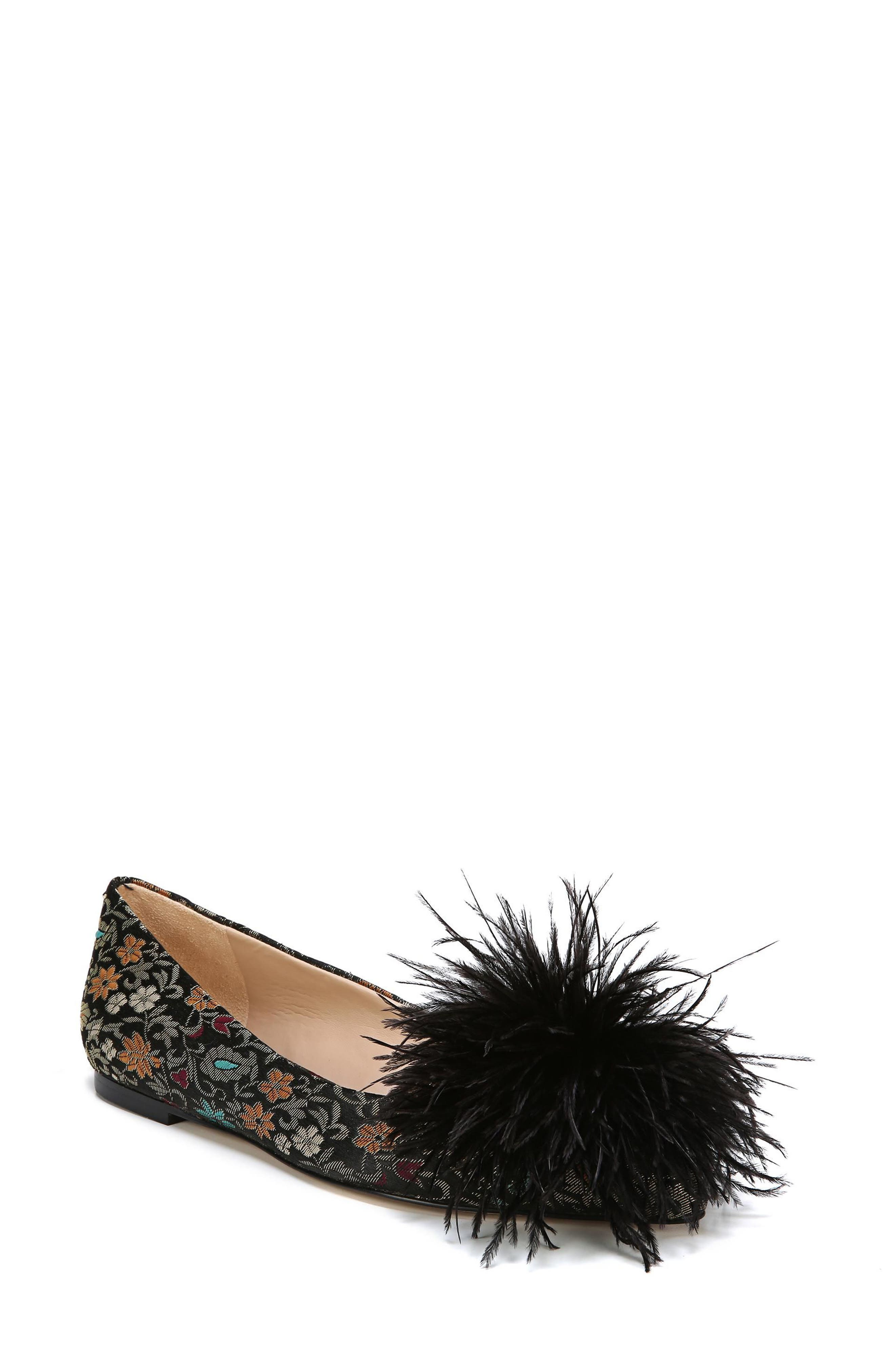 Alternate Image 1 Selected - Sam Edelman Reina Feather Pompom Flat (Women)