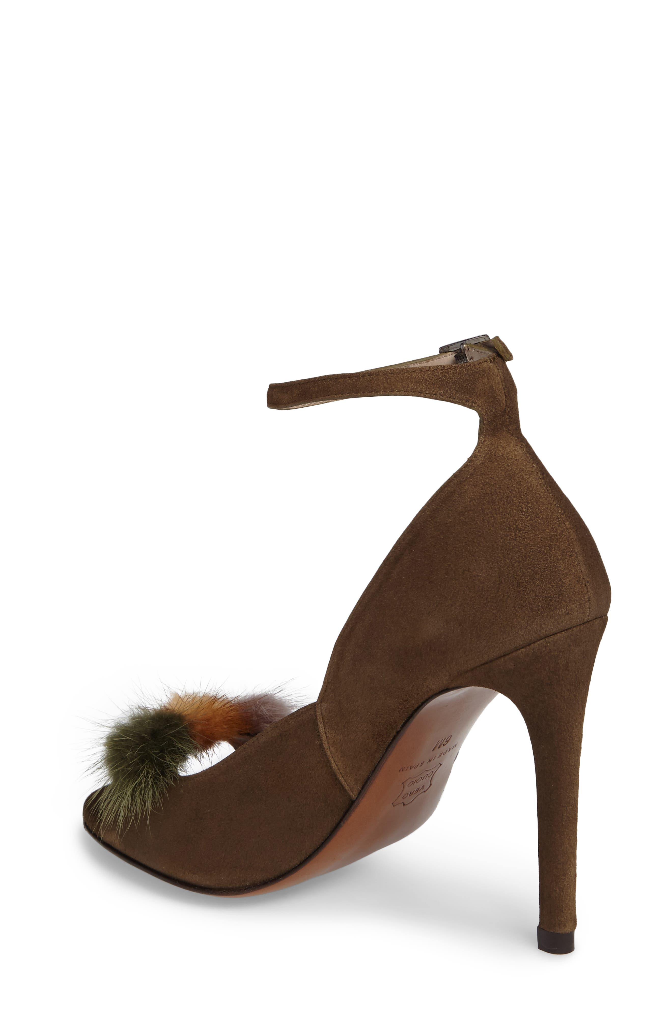 Alternate Image 2  - Donald J Pliner Genuine Mink Fur Pump (Women)