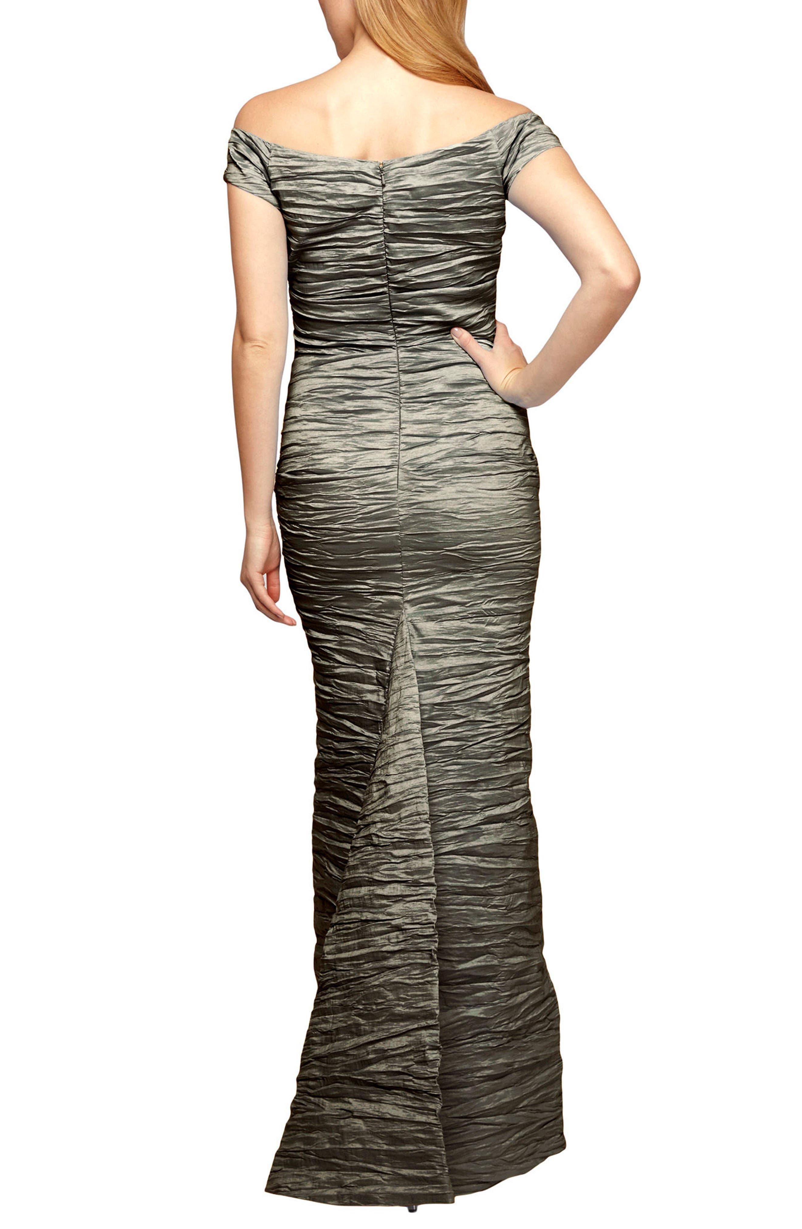 Alternate Image 2  - Alex Evenings Taffeta Mermaid Gown