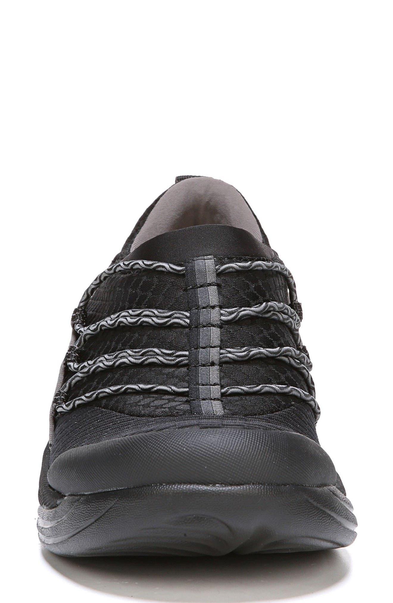 Pisces Slip-On Sneaker,                             Alternate thumbnail 4, color,                             Black