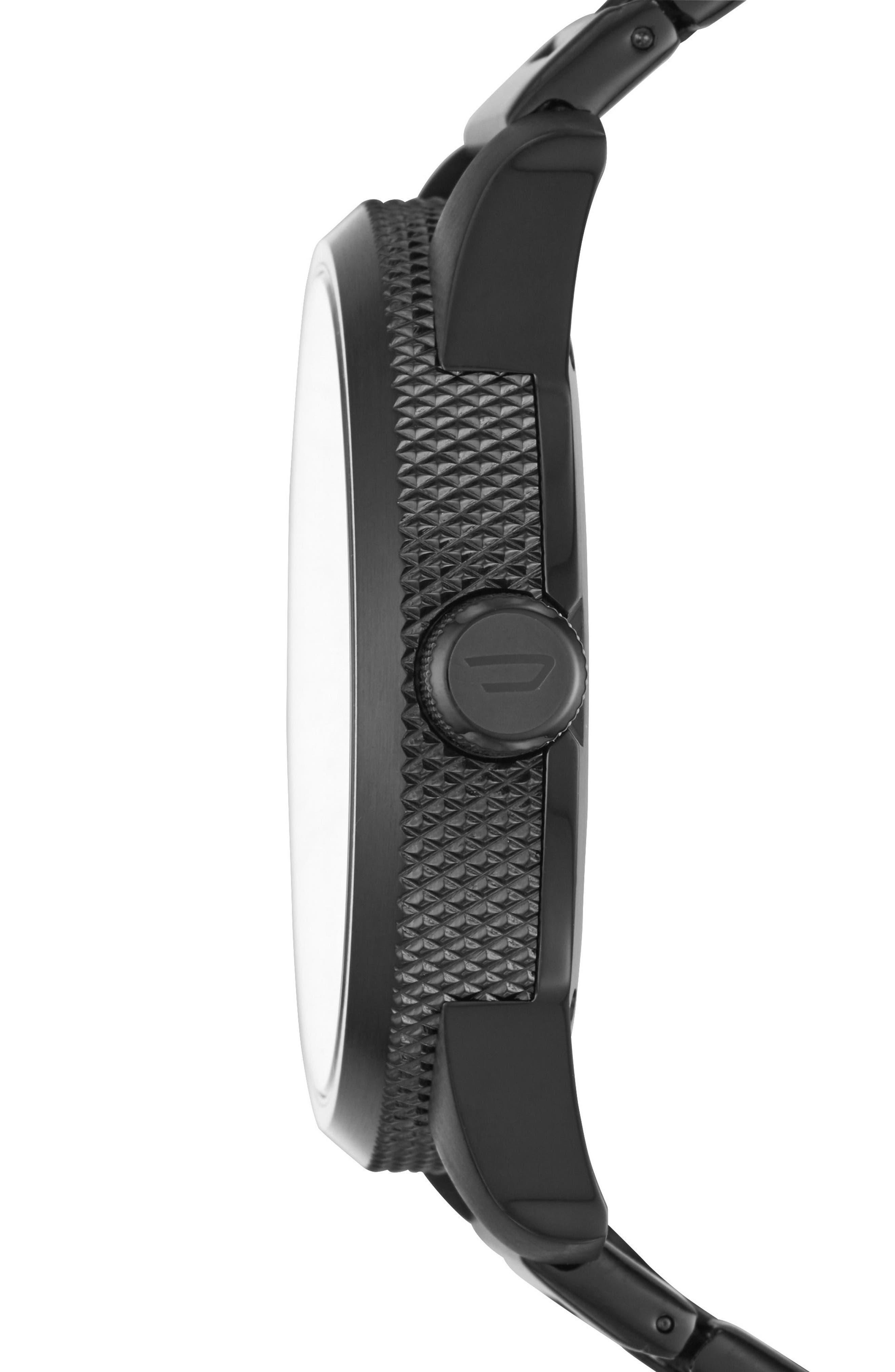 Alternate Image 2  - DIESEL® Rasp Bracelet Strap Watch, 46mm x 53mm
