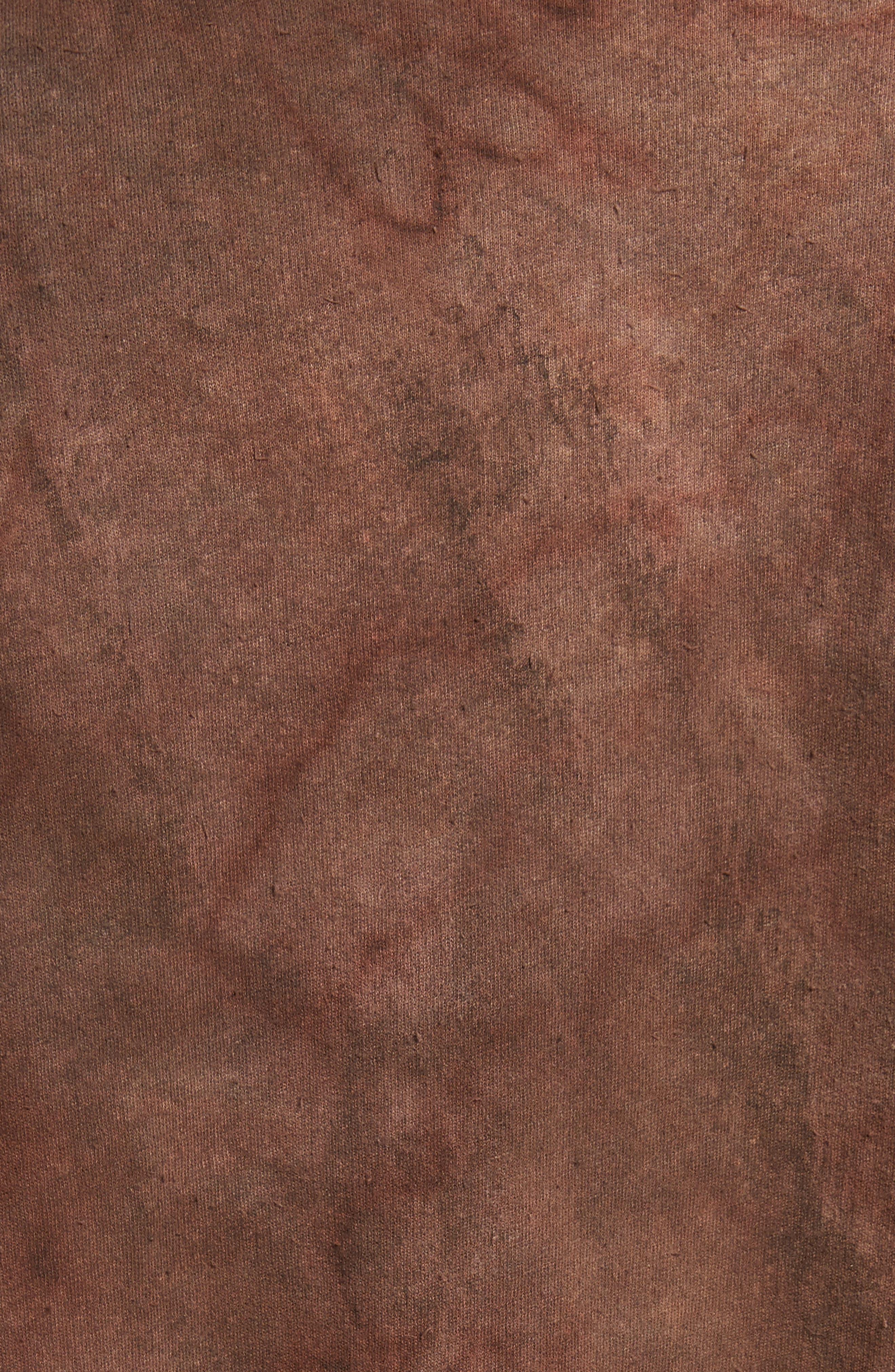 Granite Tie Dye Linen Blend T-Shirt,                             Alternate thumbnail 5, color,                             Sephia Rain