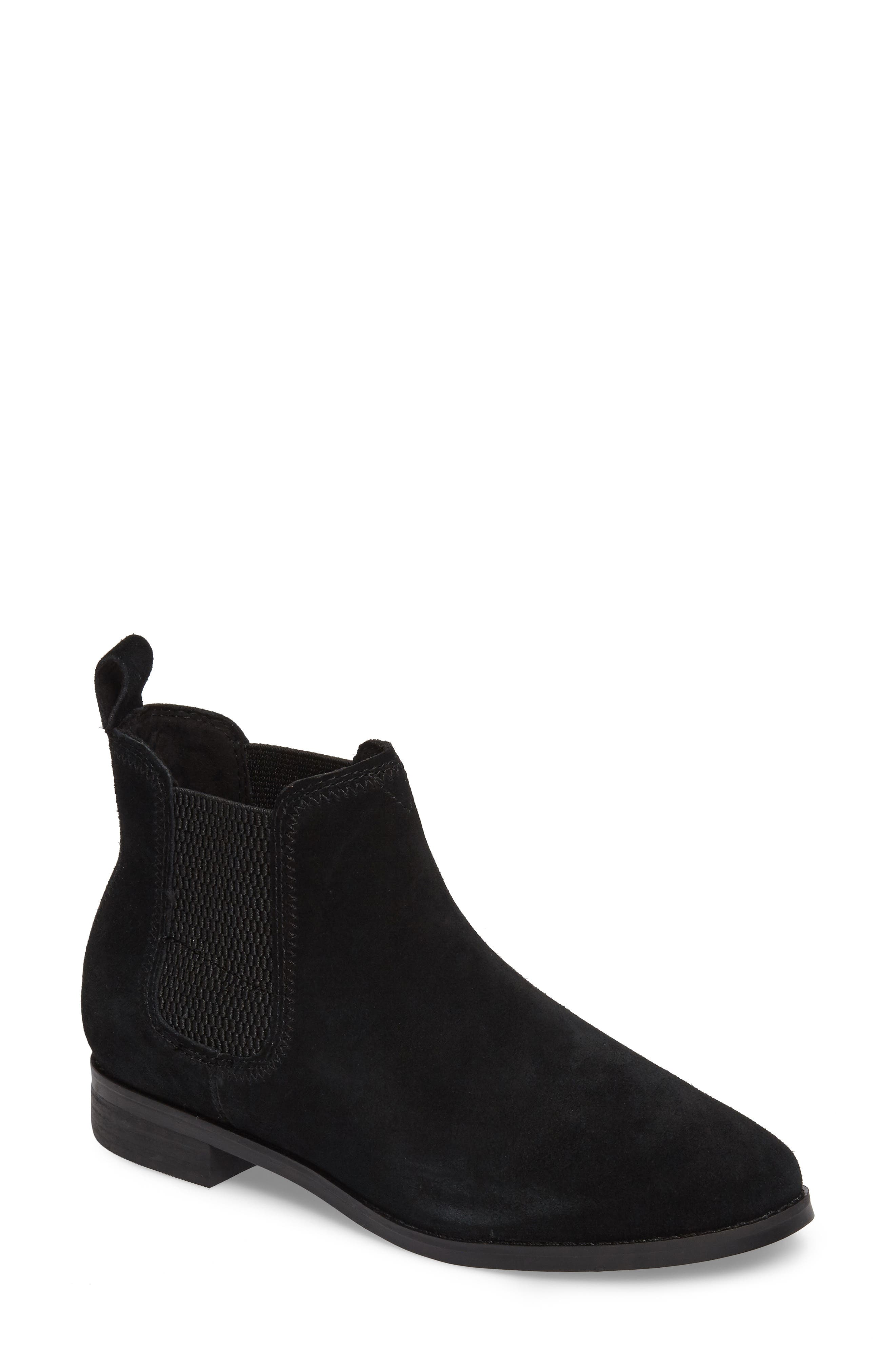 Ella Bootie,                         Main,                         color, Black Suede