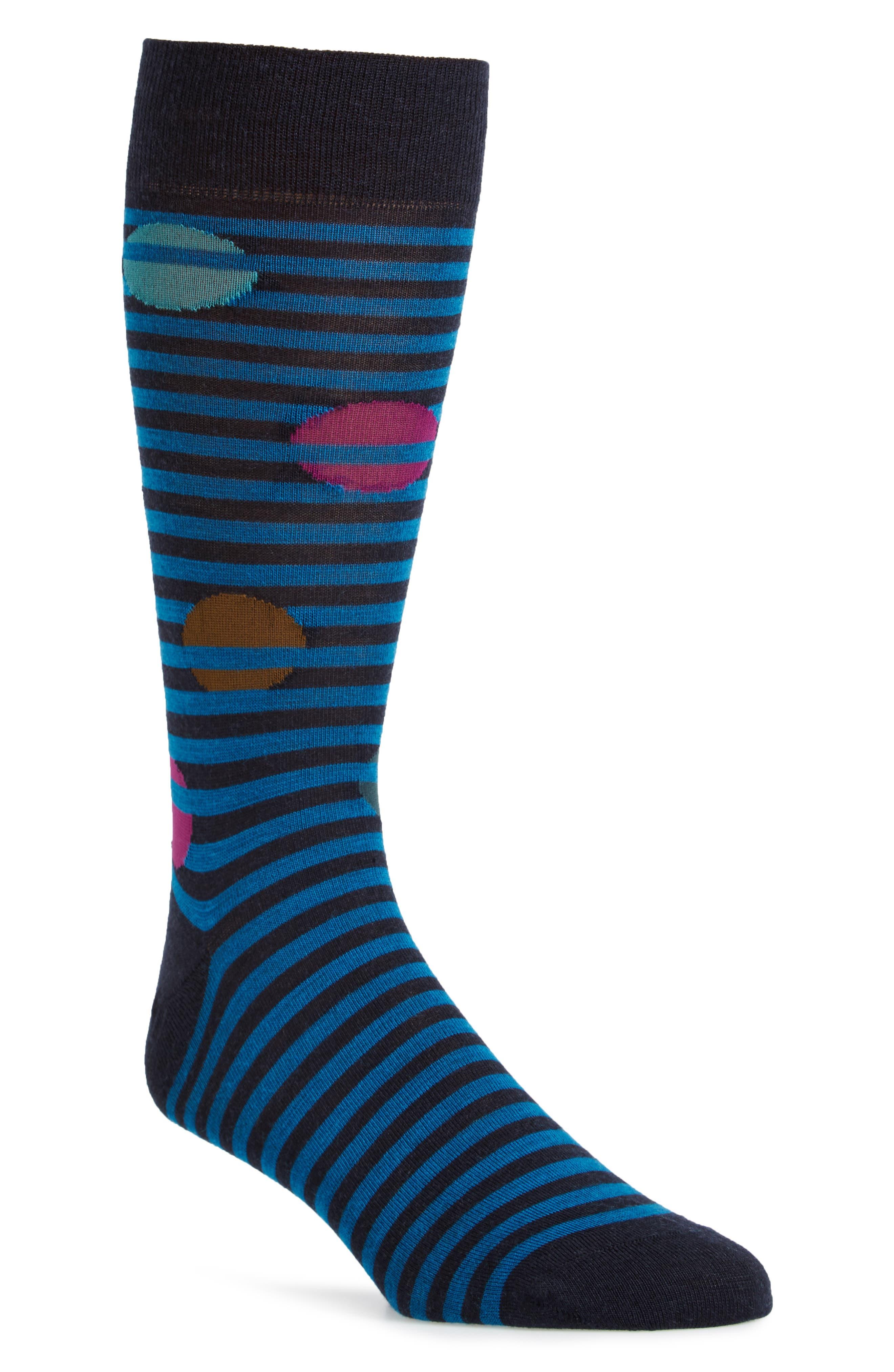 Pantherella Spot Stripe Socks