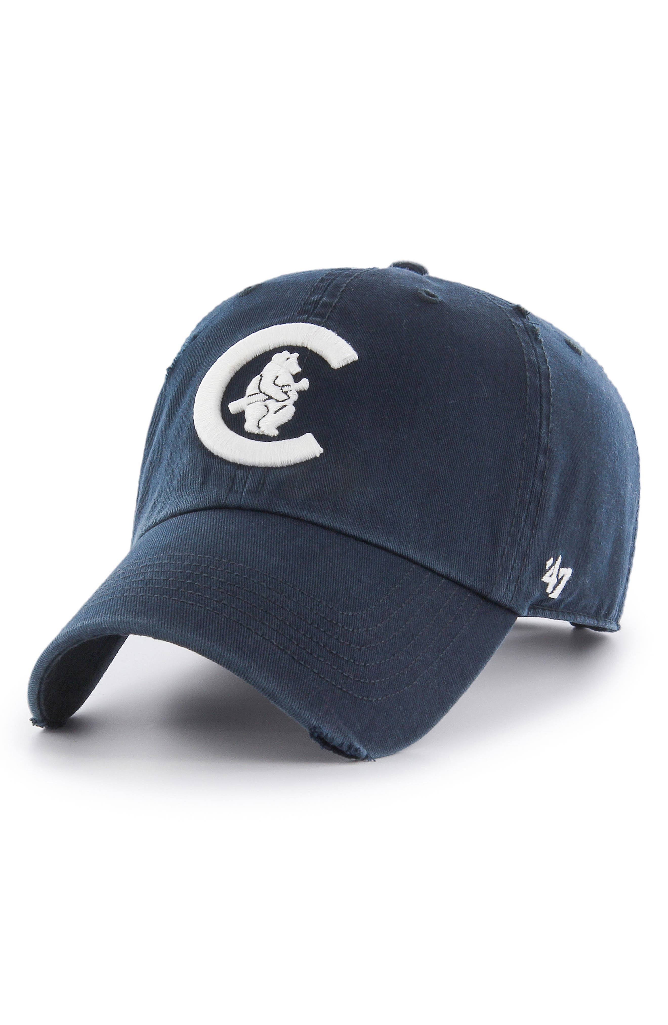 47 Brand Cooperstown Ridge Chicago Cubs Baseball Cap,                         Main,                         color, Navy
