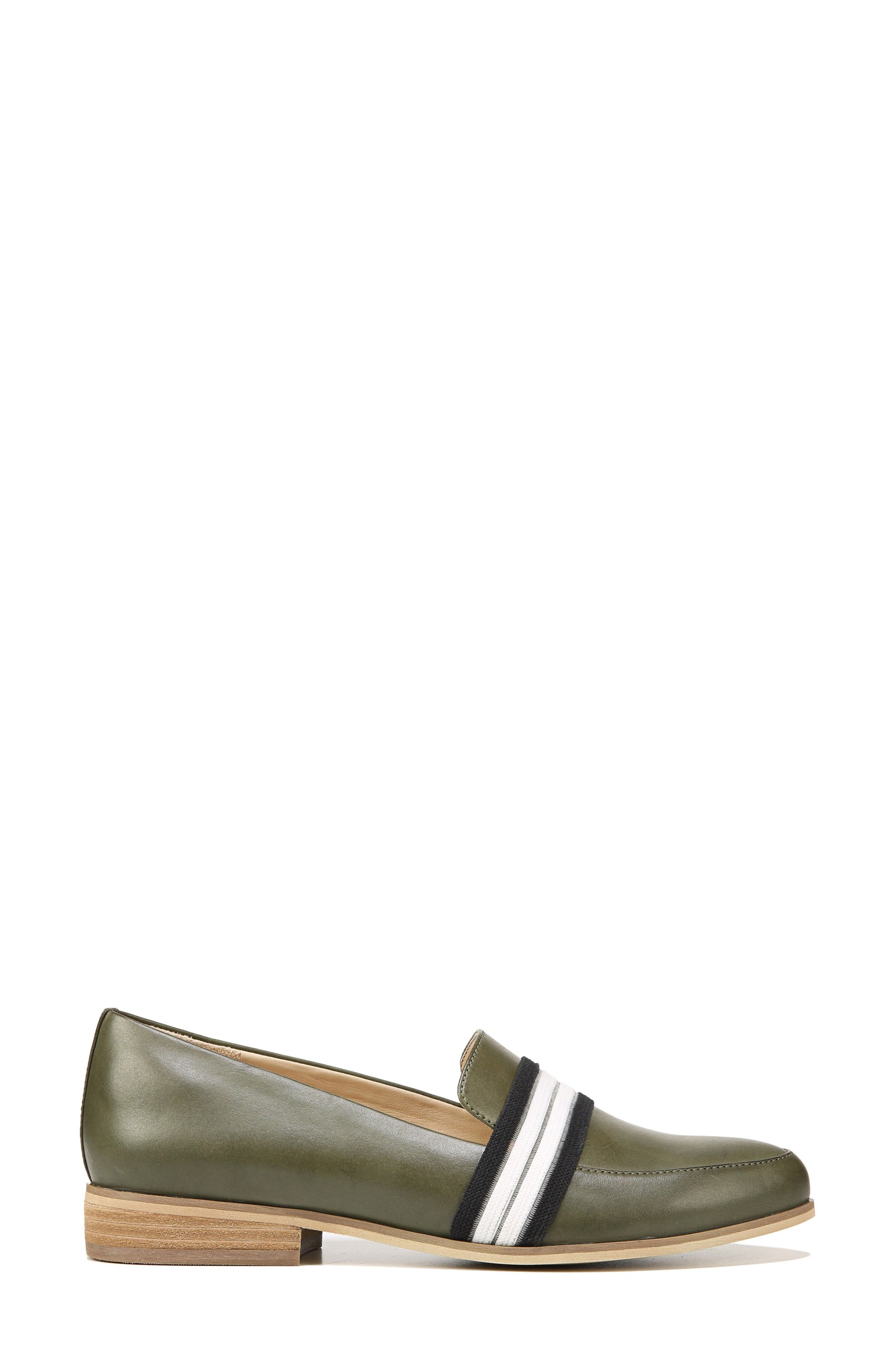 Everett Band Loafer,                             Alternate thumbnail 3, color,                             Green Leather