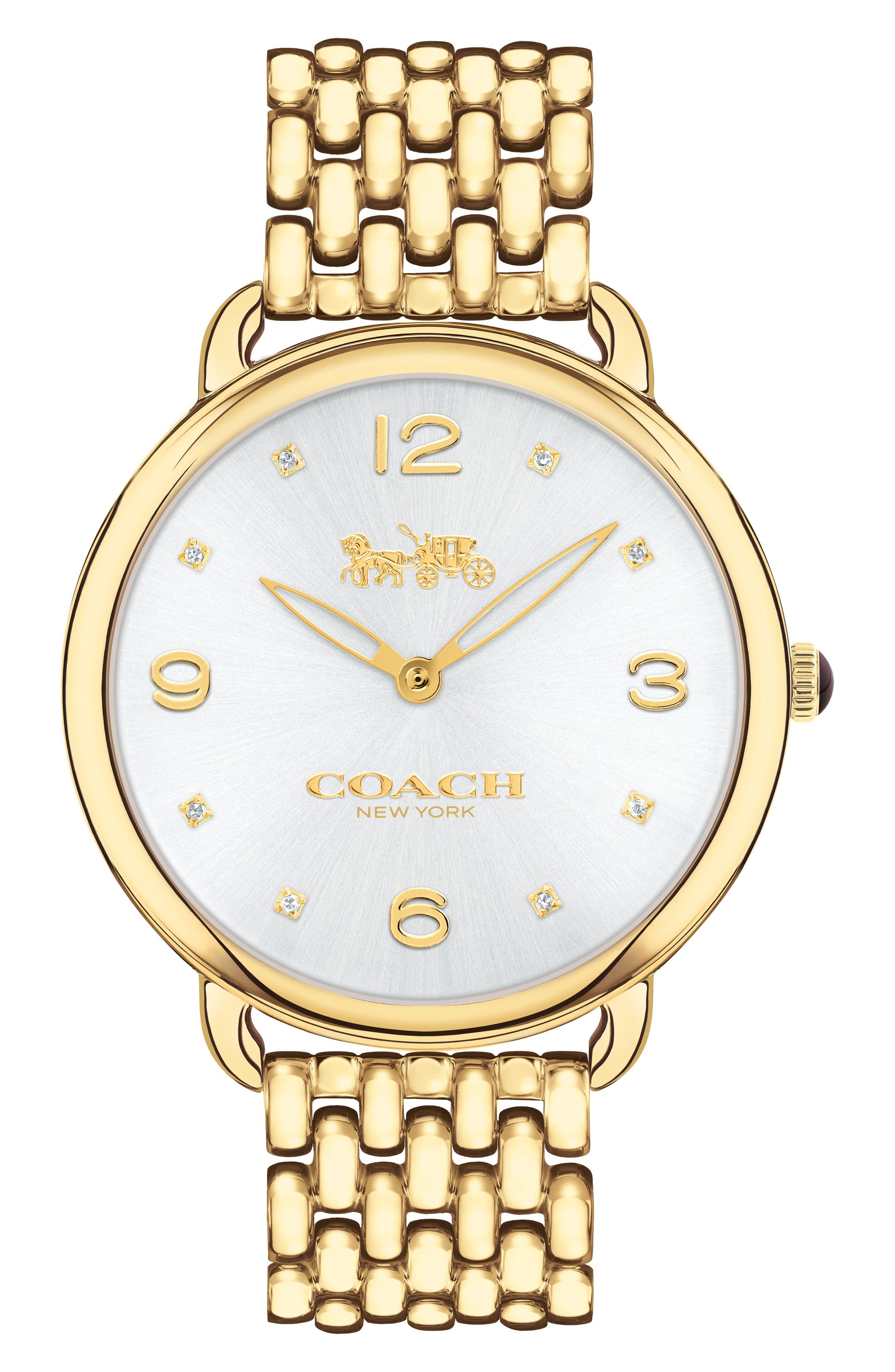 Main Image - COACH Delancey Slim Diamond Bracelet Watch, 37mm